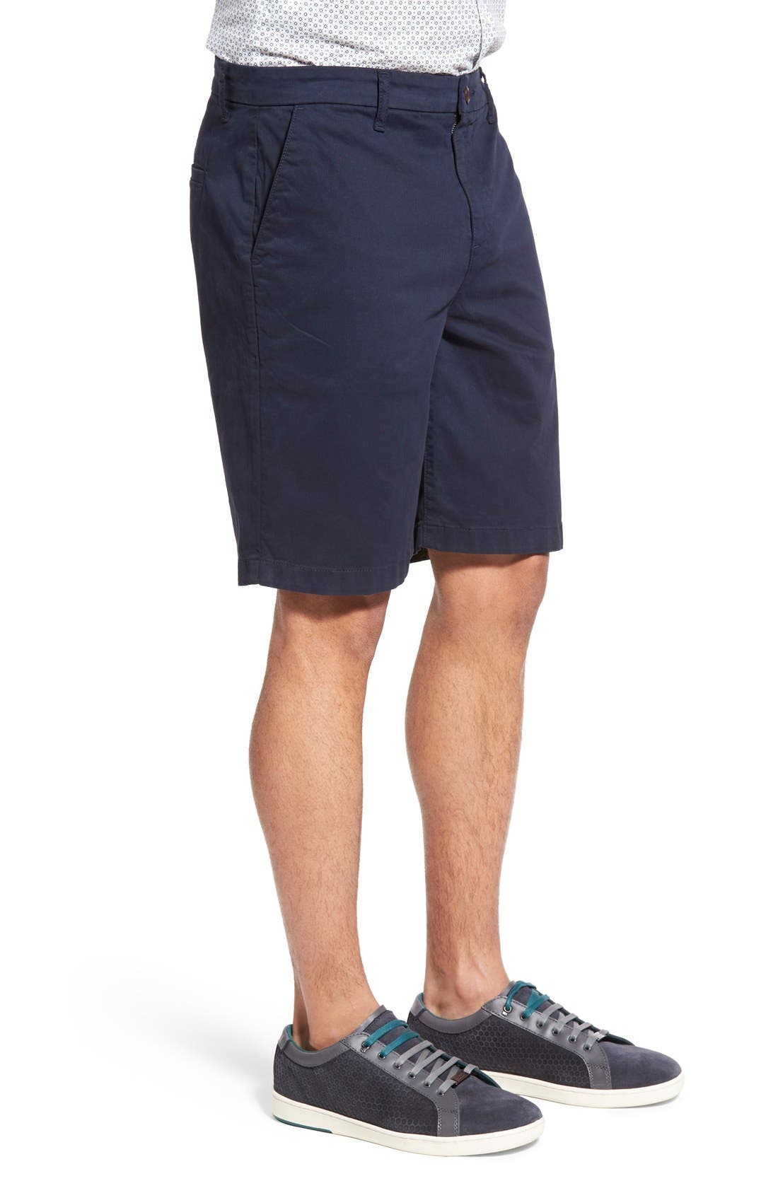 'Thompson' Slim Fit Shorts,                             Alternate thumbnail 3, color,                             Navy Cadet