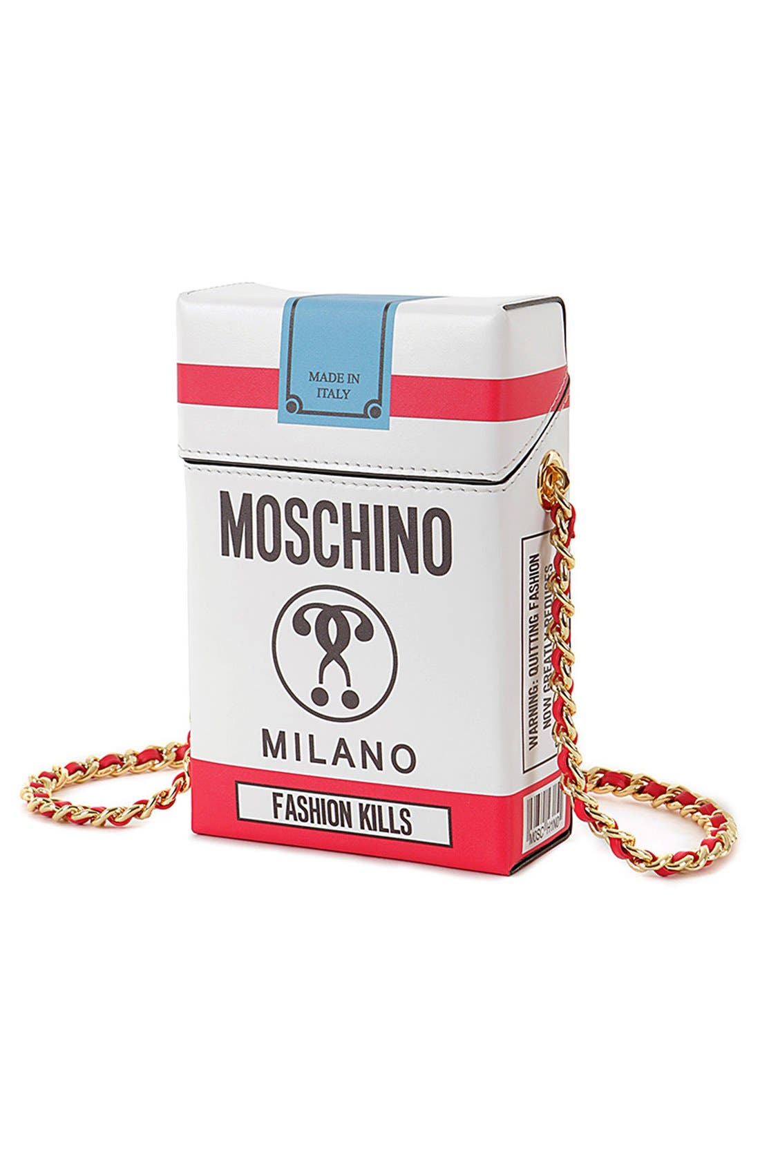 Alternate Image 4  - Moschino 'Fashion Kills' Crossbody Bag