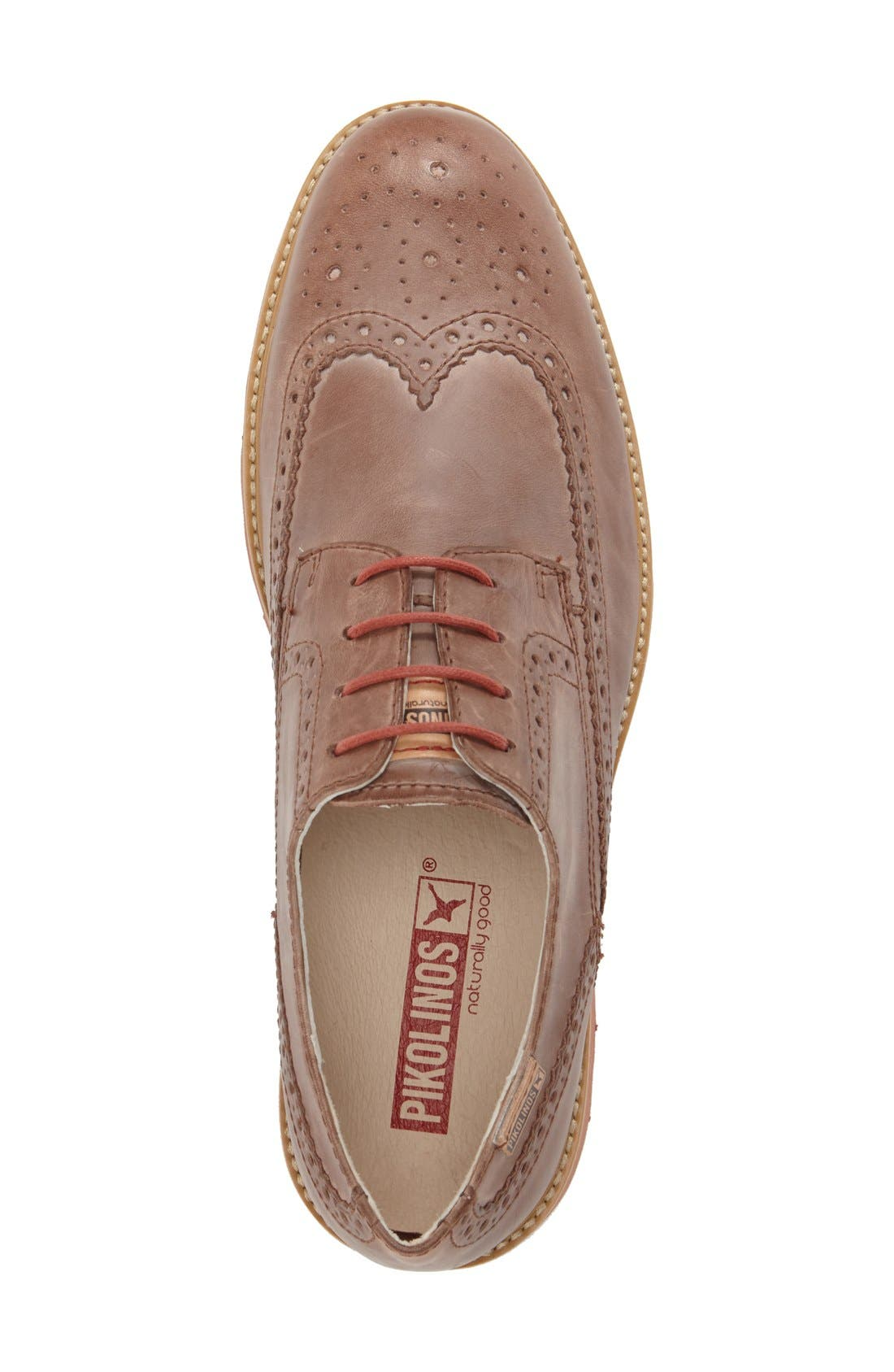 'Glasgow' Wing Tip Oxford,                             Alternate thumbnail 3, color,                             Olmo Leather