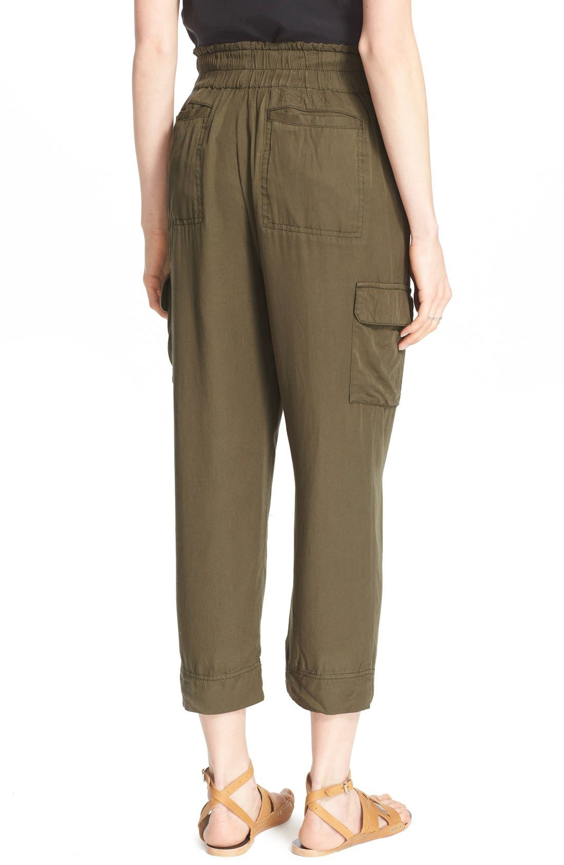 Crop Cargo Pants,                             Alternate thumbnail 2, color,                             Army