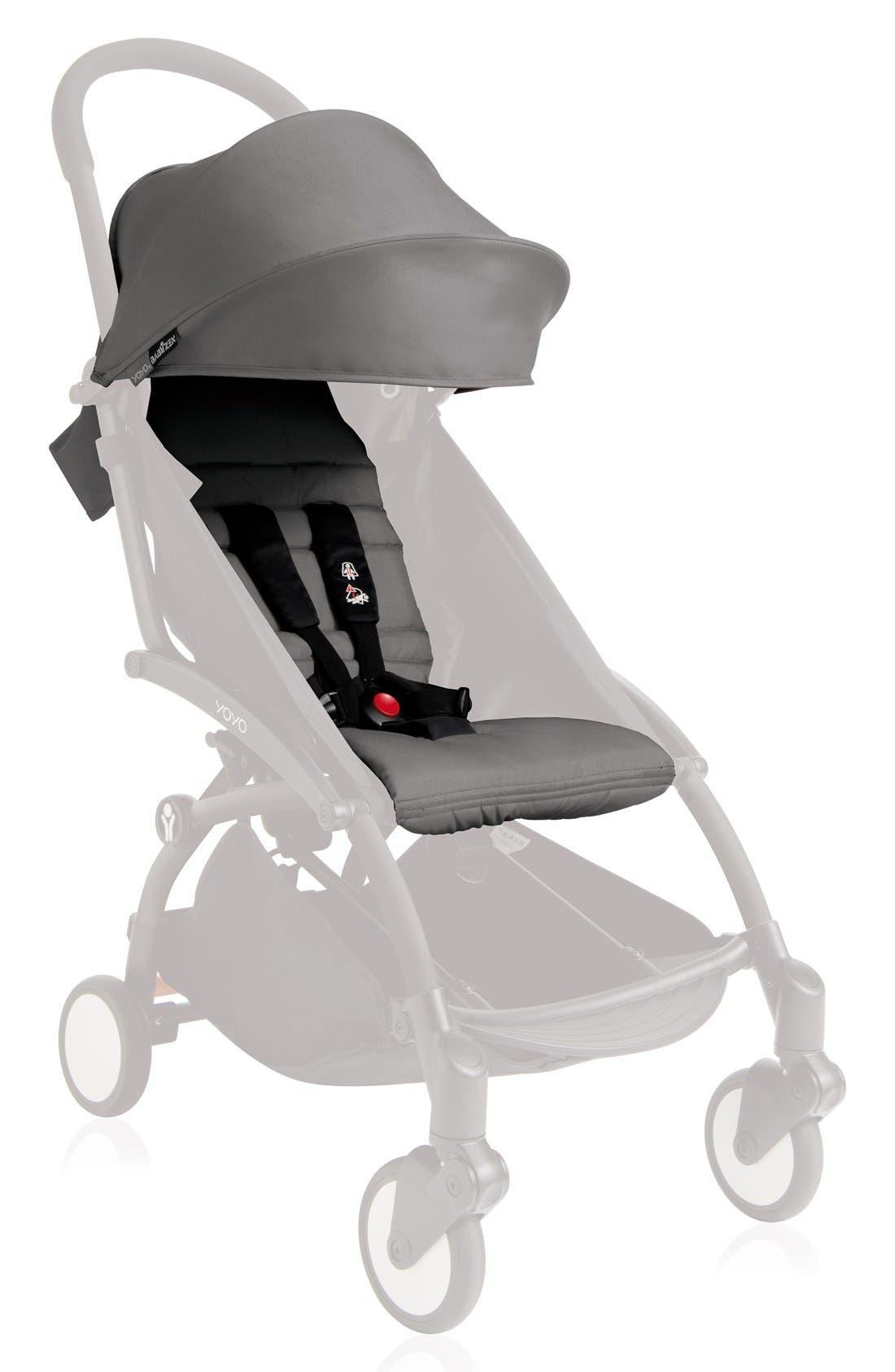 BABYZEN YOYO+ Color Pack Seat/Fabric Set for BABYZEN YOYO+ Stroller Frame,                         Main,                         color, Grey