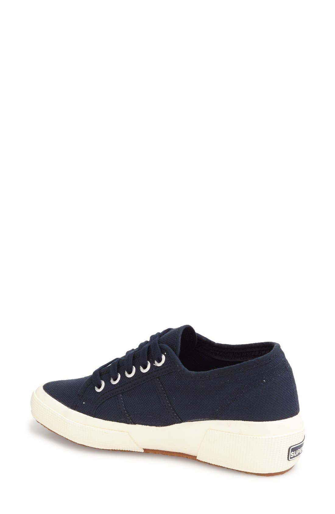 'Linea' Wedge Sneaker,                             Alternate thumbnail 2, color,                             Navy