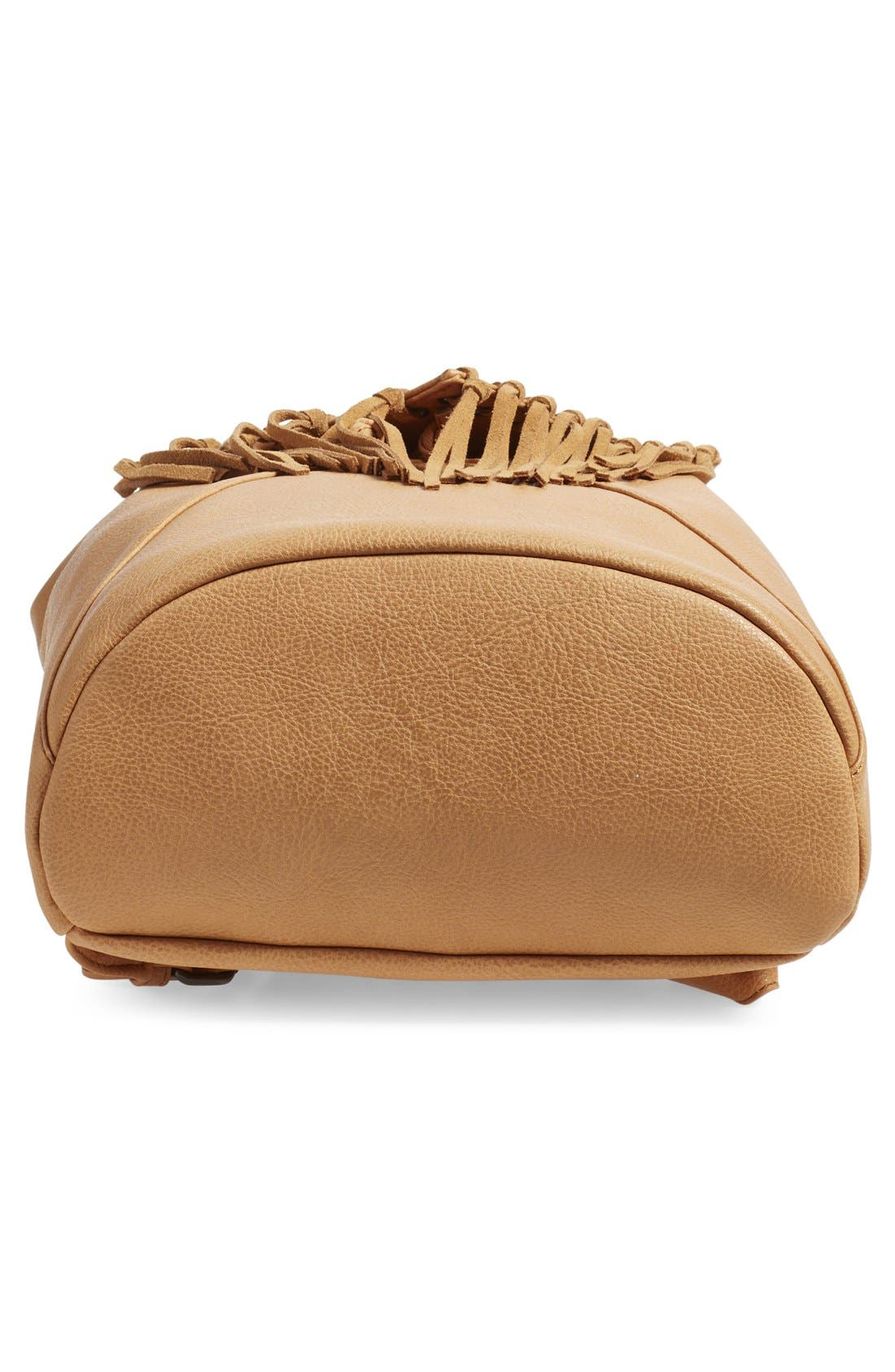 'Hartley' Faux Leather Backpack,                             Alternate thumbnail 6, color,                             Camel