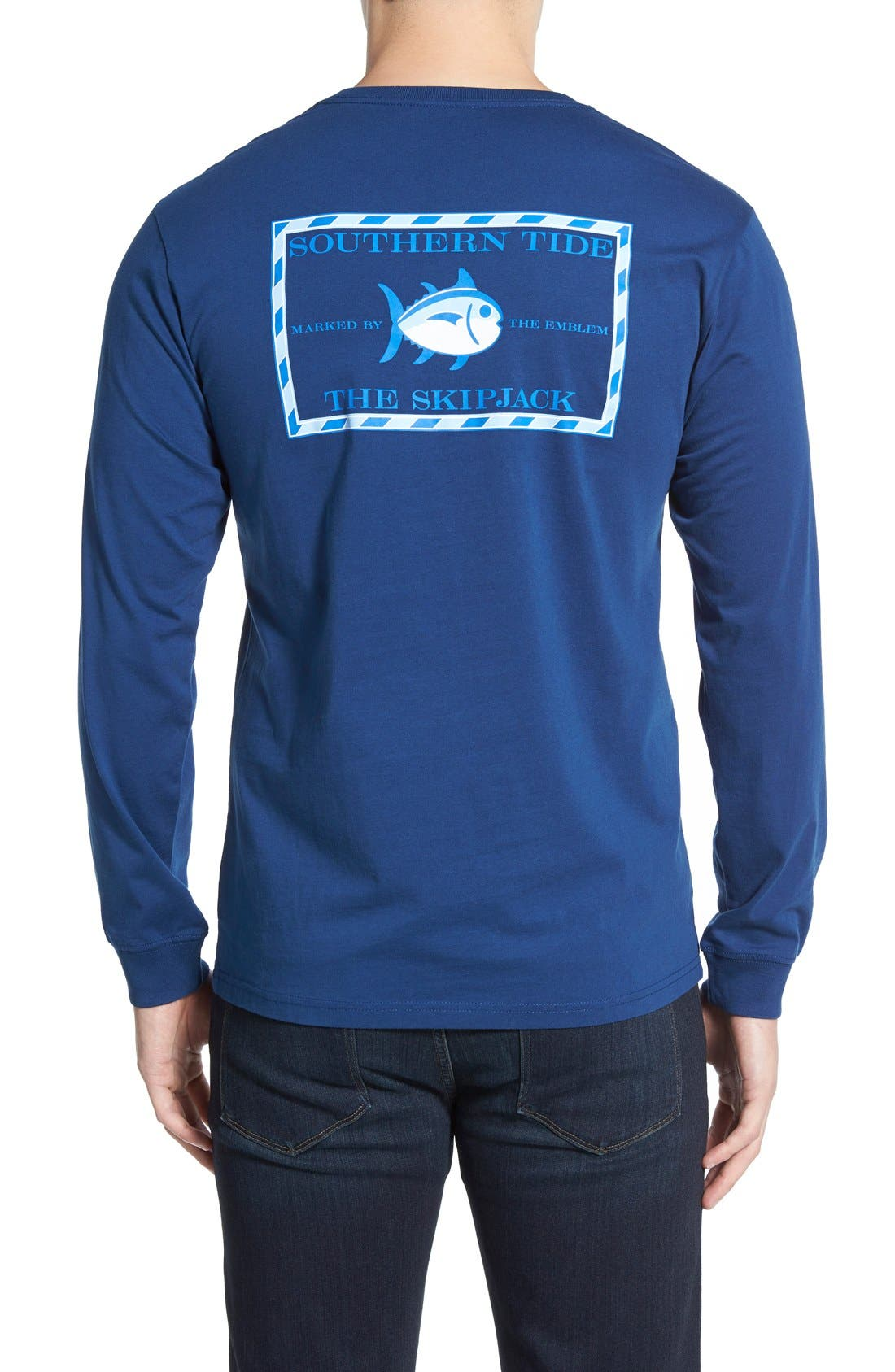 Alternate Image 1 Selected - Southern Tide 'Skipjack'Long Sleeve Graphic T-Shirt