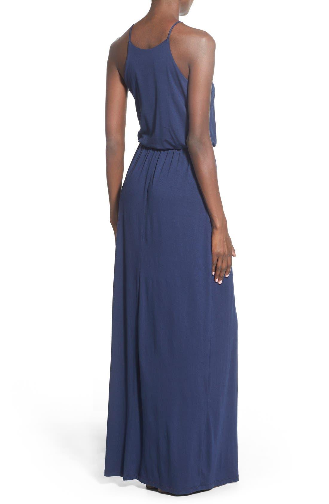 Alternate Image 3  - Lush High Neck Maxi Dress