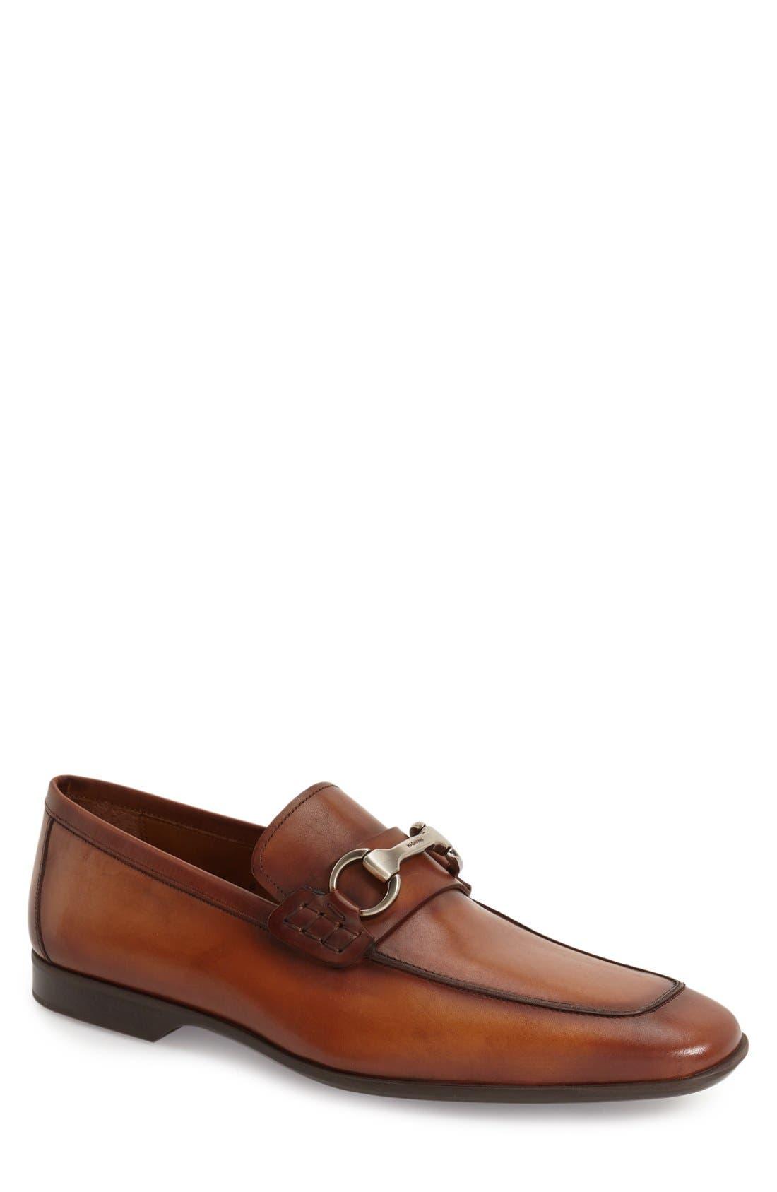 'Rafa II' Bit Loafer,                             Main thumbnail 1, color,                             Cognac Leather
