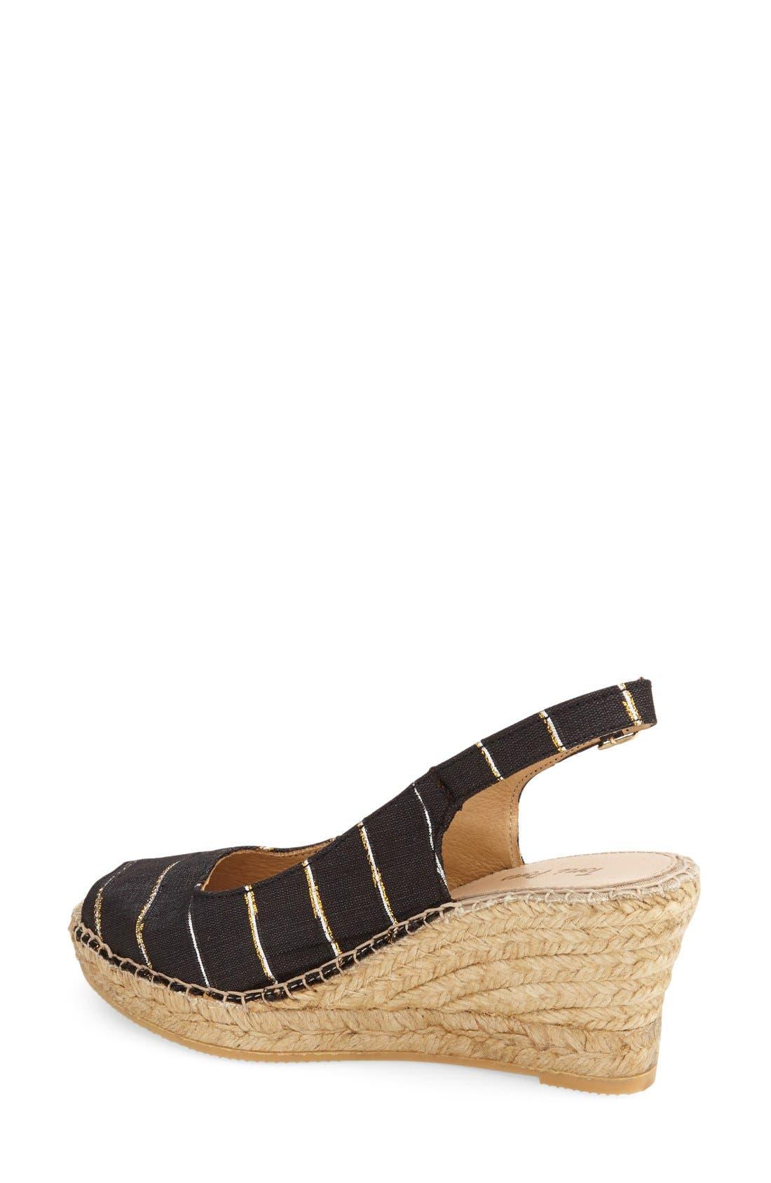 Alternate Image 2  - Toni Pons 'Carmina' Silk Slingback Wedge Sandal (Women)