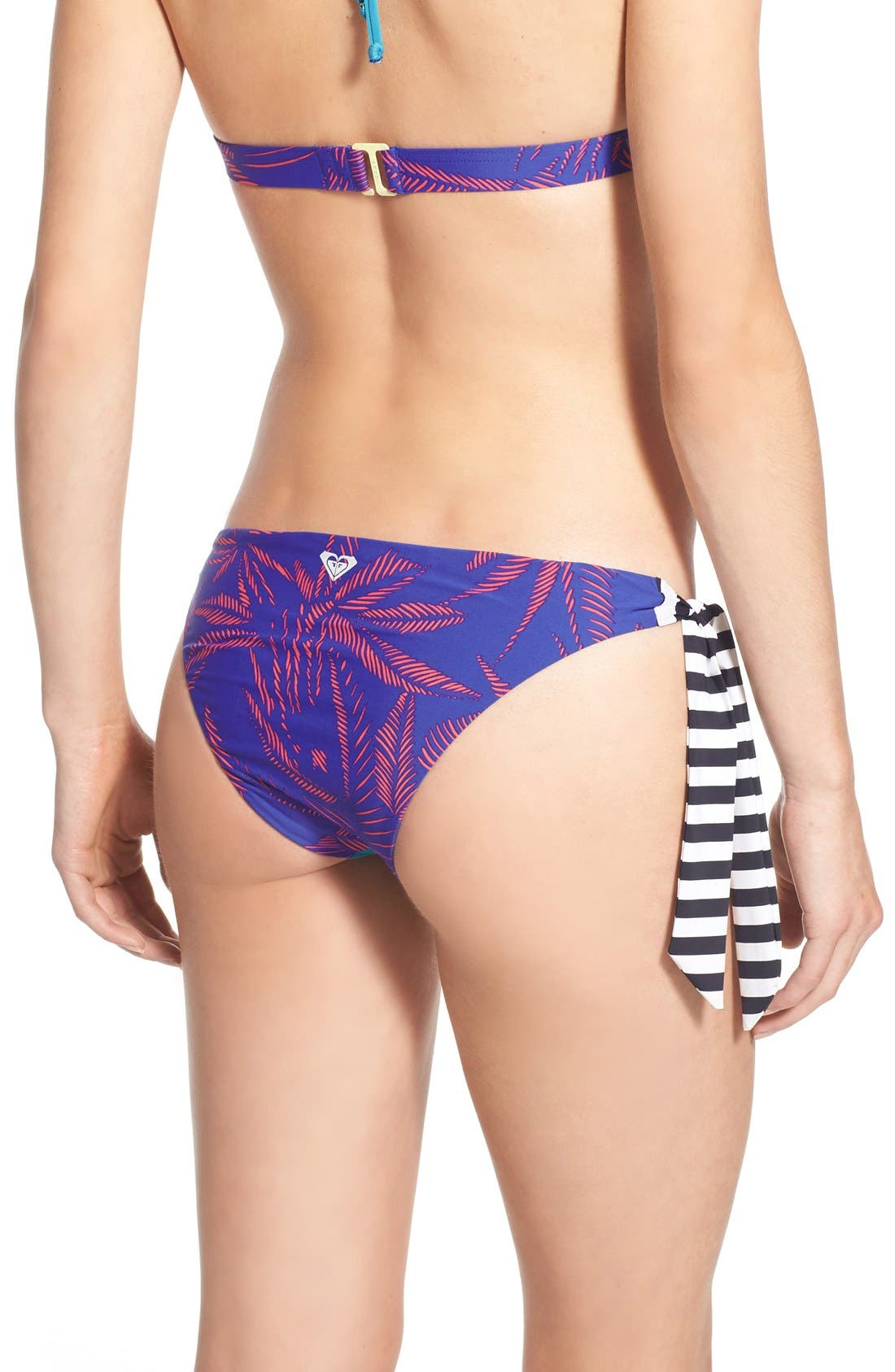 Alternate Image 2  - Roxy 'Polynesia' Print Side Tie Bikini Bottoms