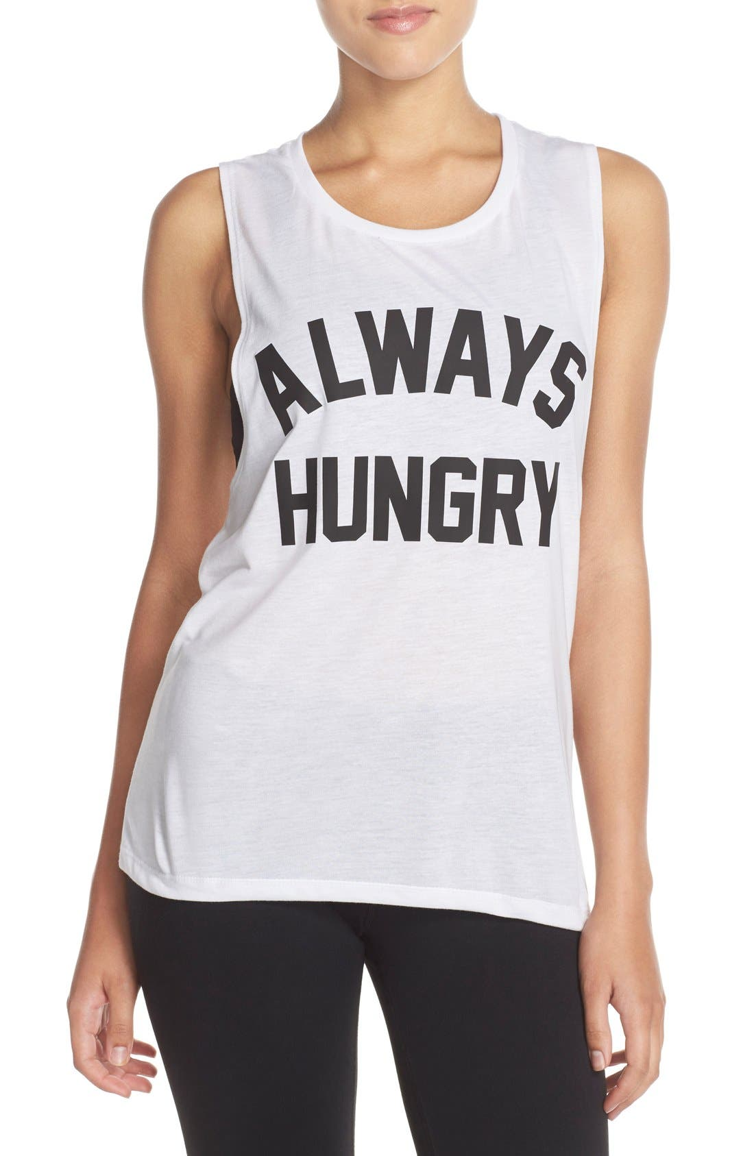 Graphic Muscle Tank,                         Main,                         color, White