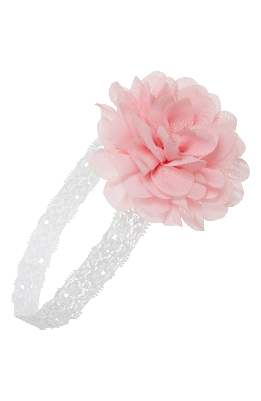Alternate Image 1 Selected - PLH Bows & Laces Mum Embellished Lace Head Wrap (Baby Girls)
