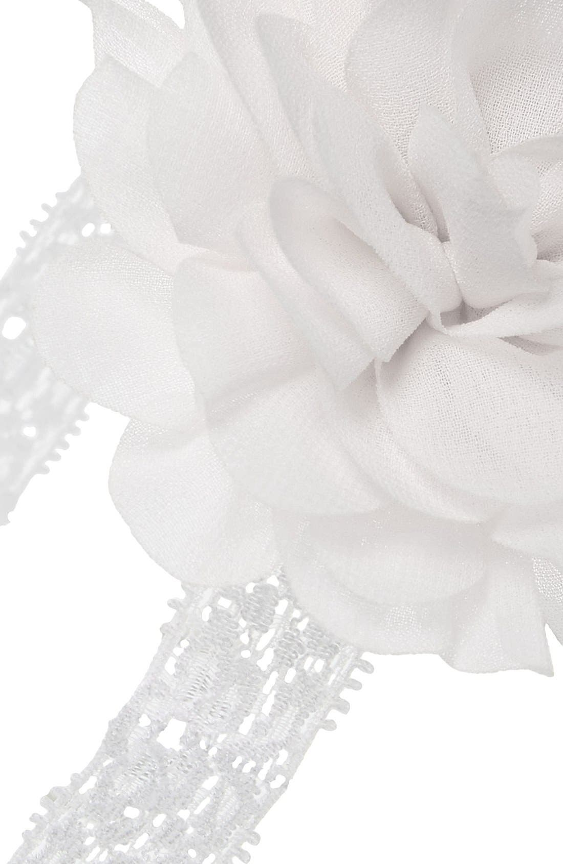 Mum Embellished Lace Head Wrap,                             Alternate thumbnail 2, color,                             White
