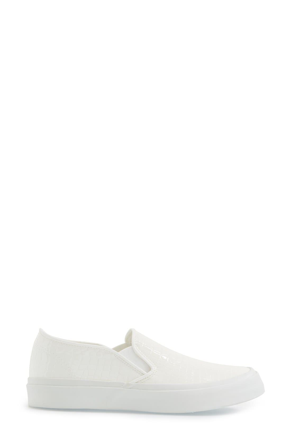 Slip-On Sneaker,                             Alternate thumbnail 4, color,                             White