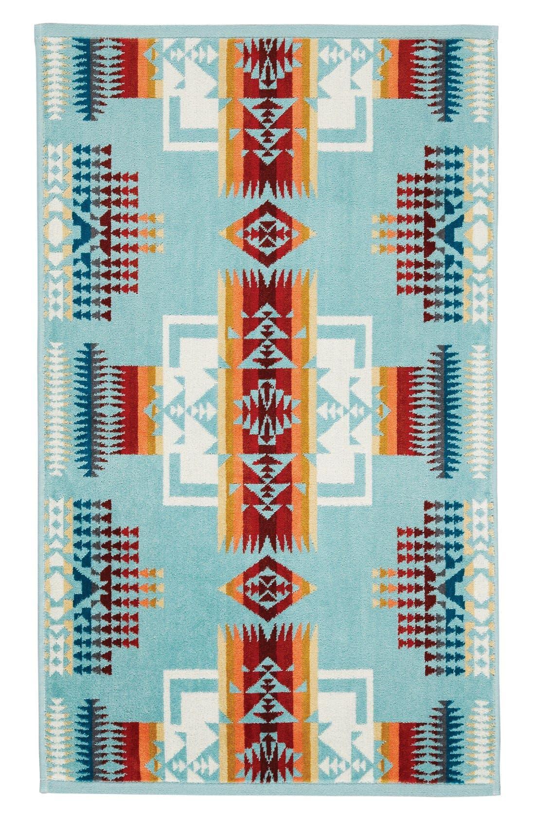 'Chief Joseph' Jacquard Hand Towel,                             Main thumbnail 1, color,                             Aqua