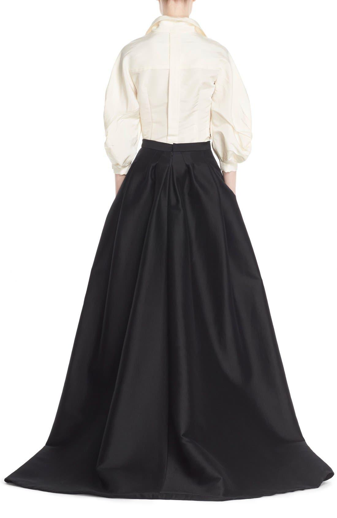 Full Length Evening Skirt,                             Alternate thumbnail 2, color,                             Black