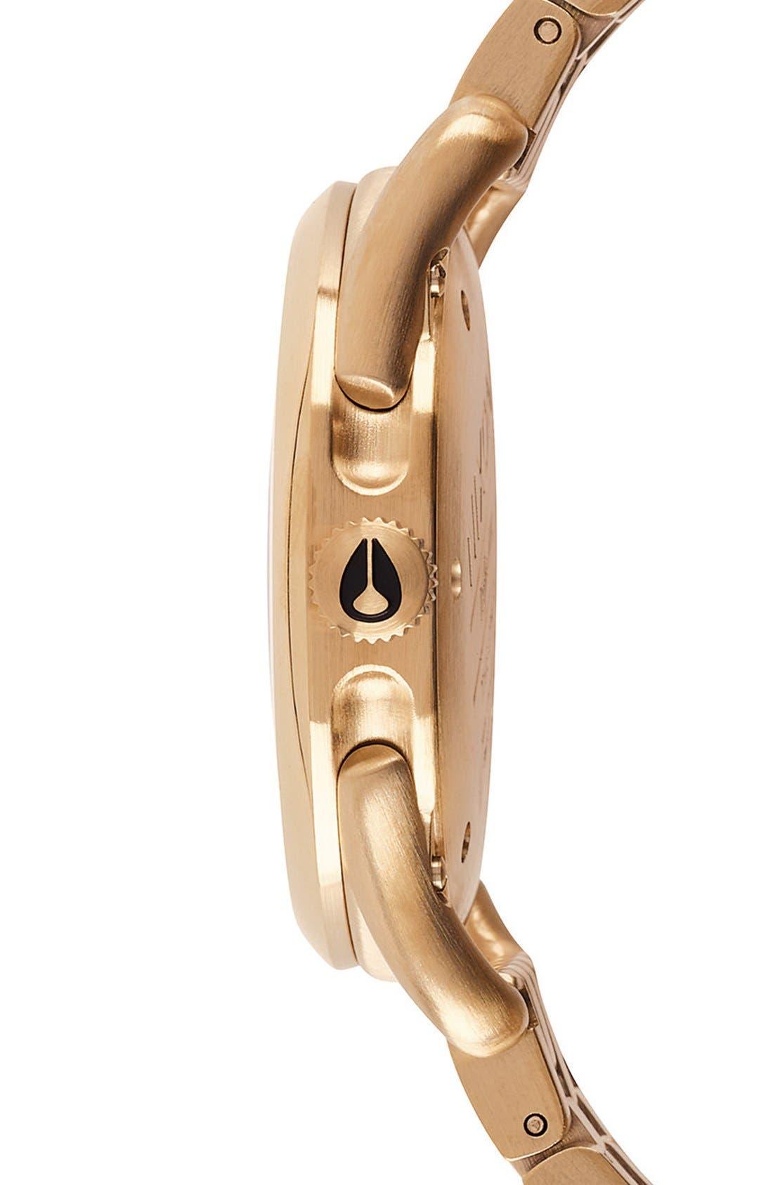 'C39' Bracelet Watch, 39mm,                             Alternate thumbnail 3, color,                             Gold/ Black