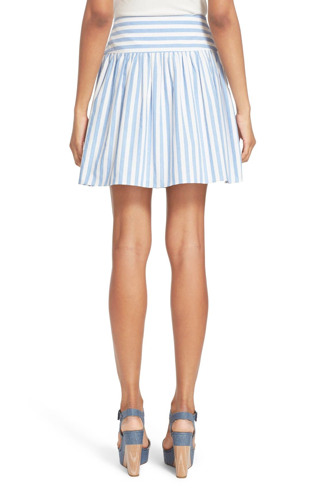 Alternate Image 3  - Milly Breton Stripe A-Line Skirt