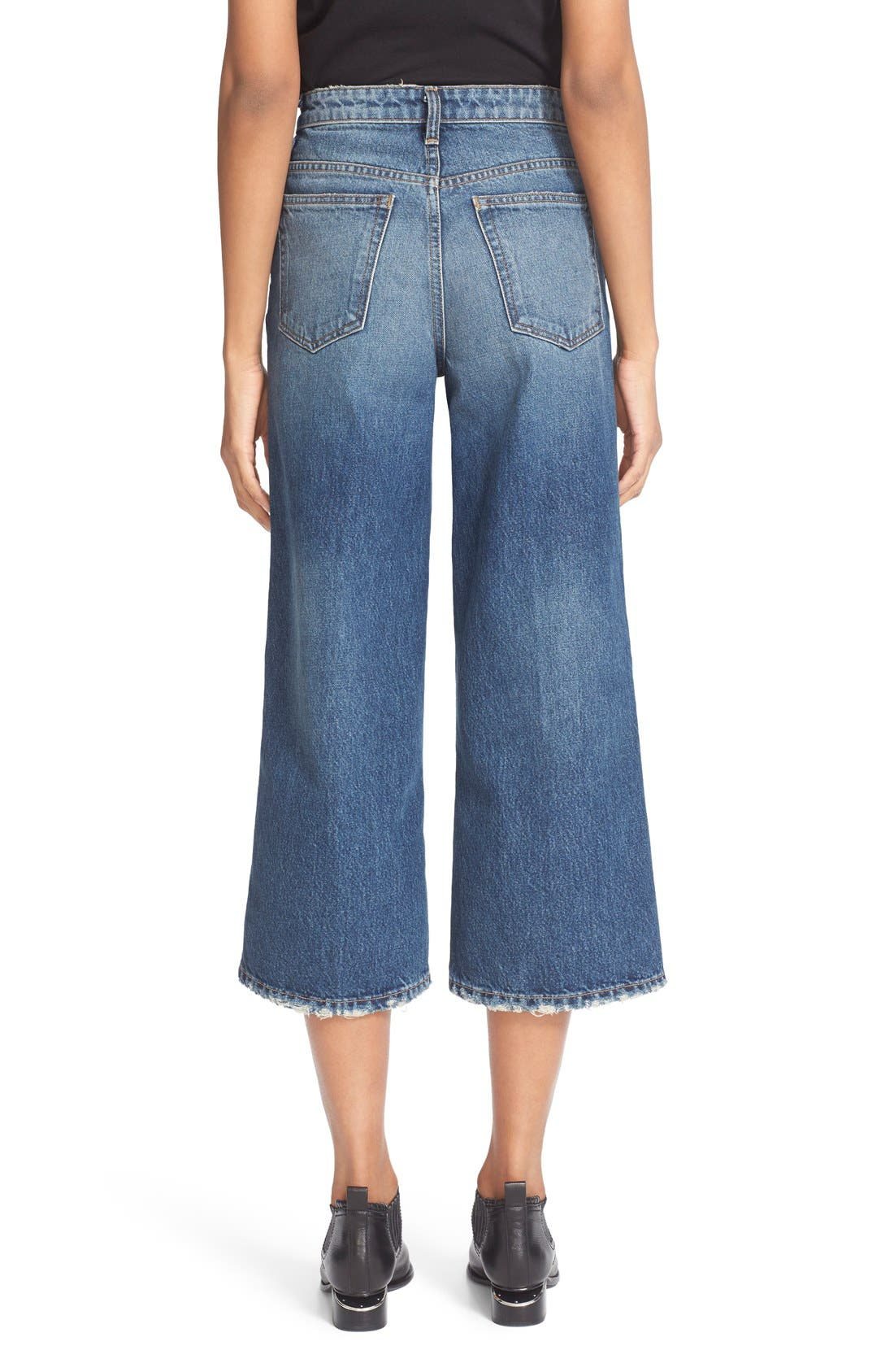 Alternate Image 3  - T by Alexander Wang Drill High Rise Wide Leg Crop Jeans
