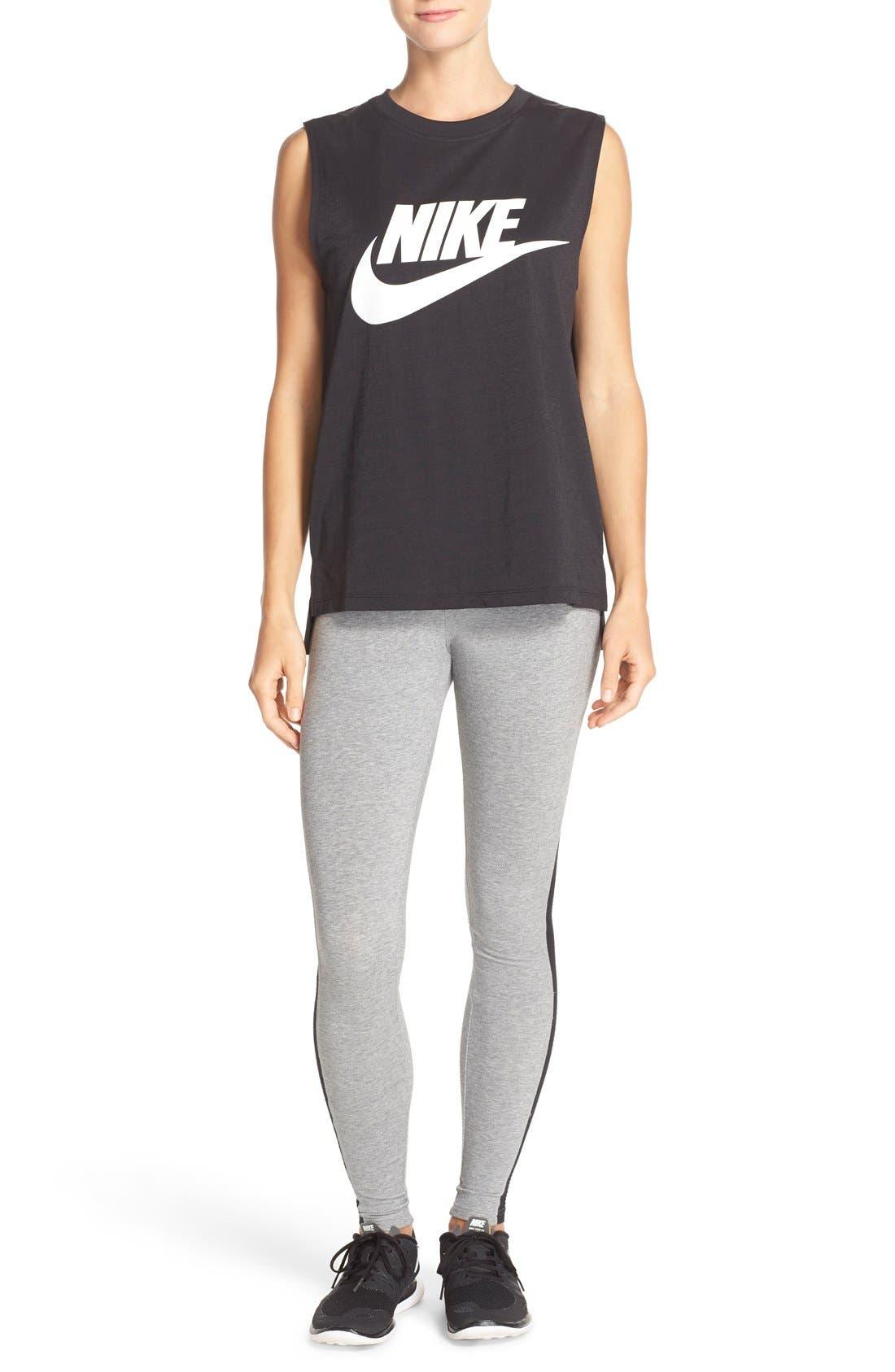 Alternate Image 6  - Nike 'Burnout' Mesh Inset Leggings
