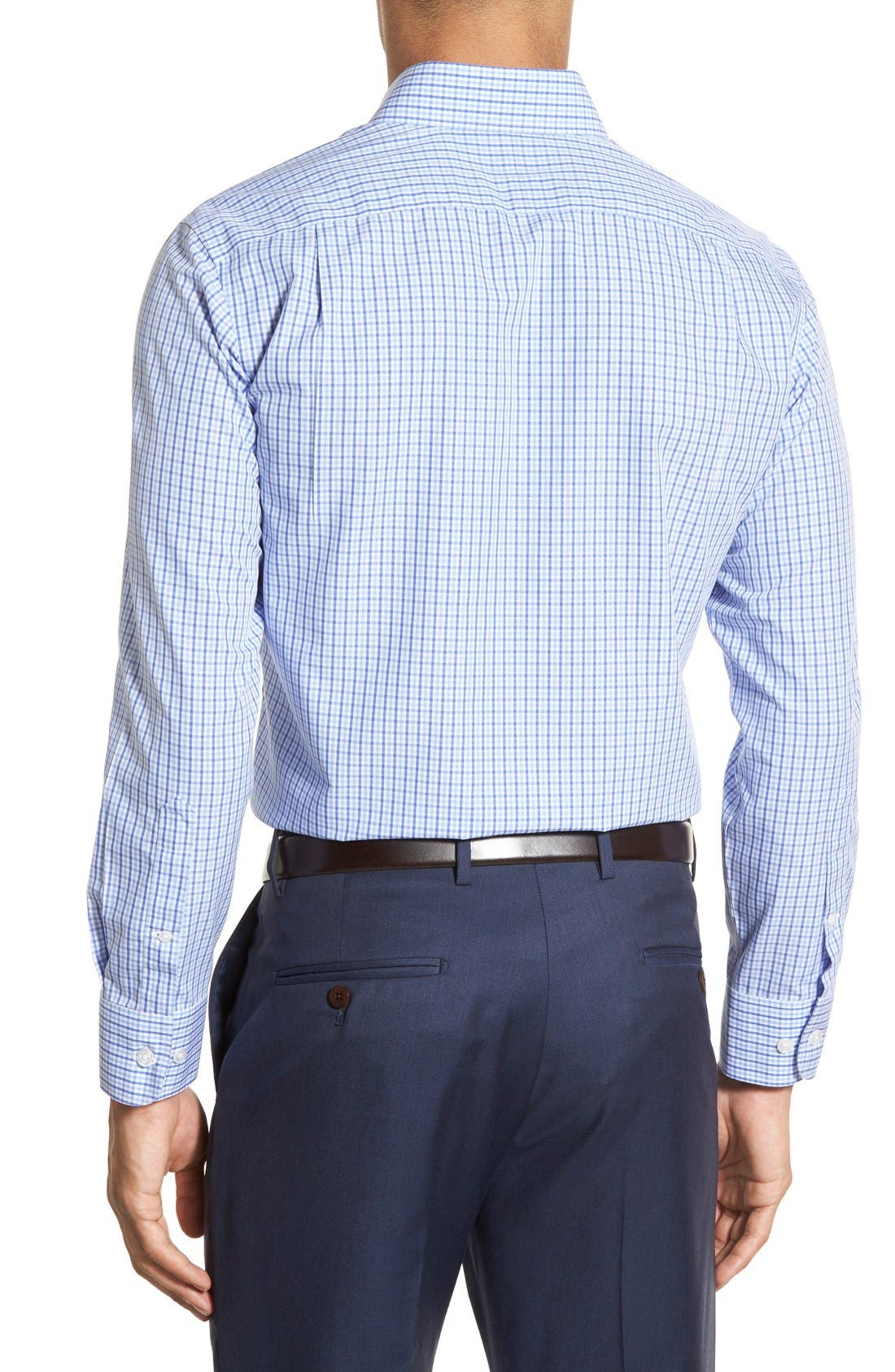 Slim Fit Wrinkle Free Check Dress Shirt,                             Alternate thumbnail 2, color,                             Pale Blue