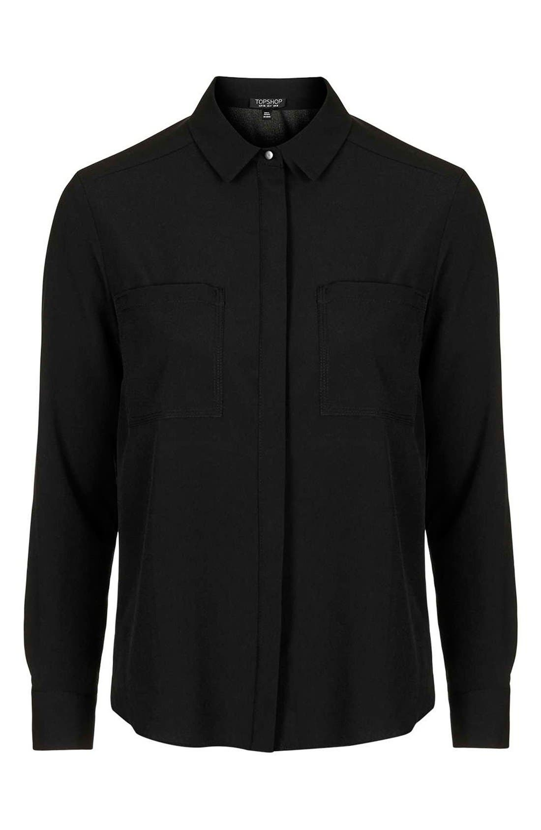 Alternate Image 4  - Topshop 'Sandy Olivia' Button Down Shirt