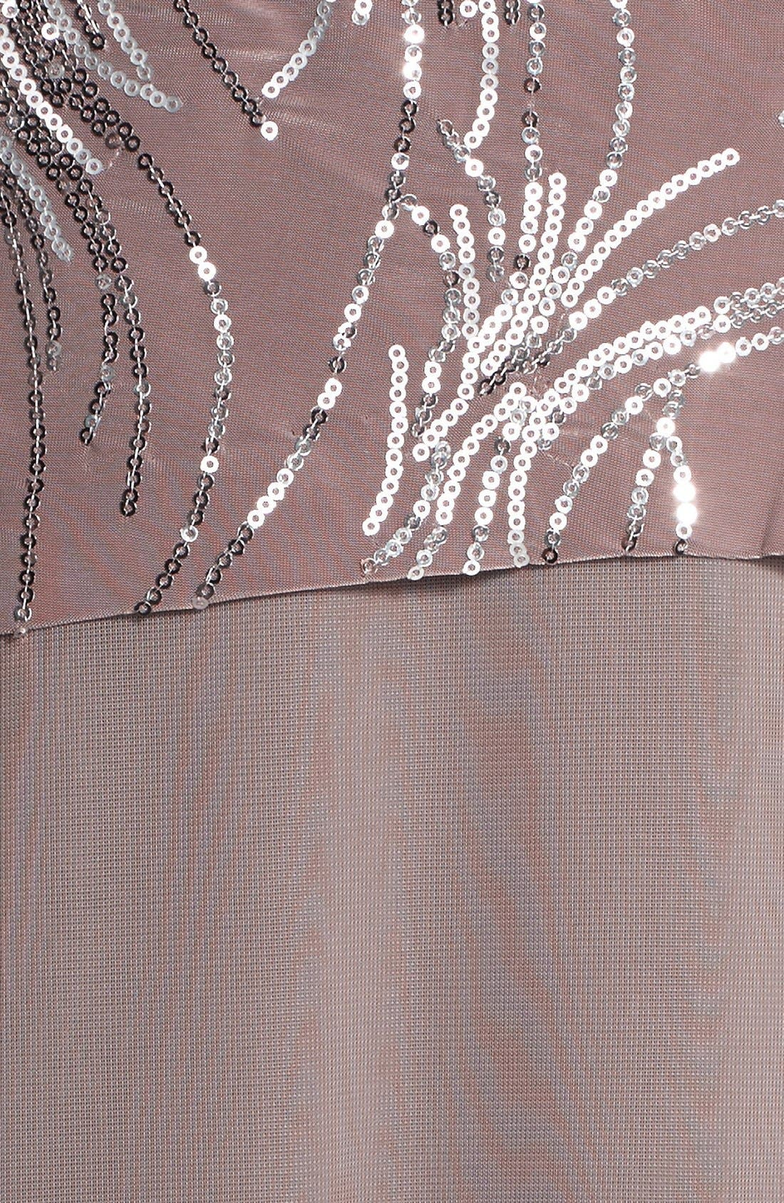 Alternate Image 5  - Alex Evenings Sequin Mock Two-Piece Dress with Jacket (Plus Size)