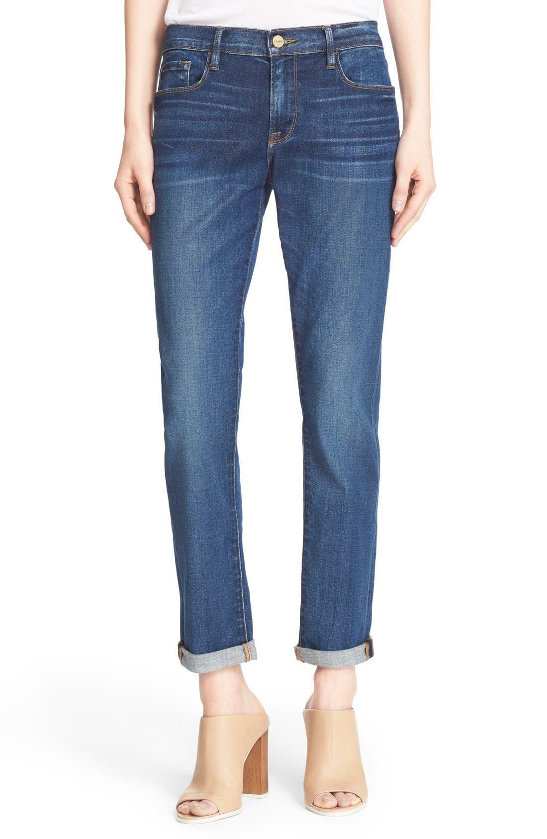 FRAME Le Garcon Skinny Boyfriend Jeans