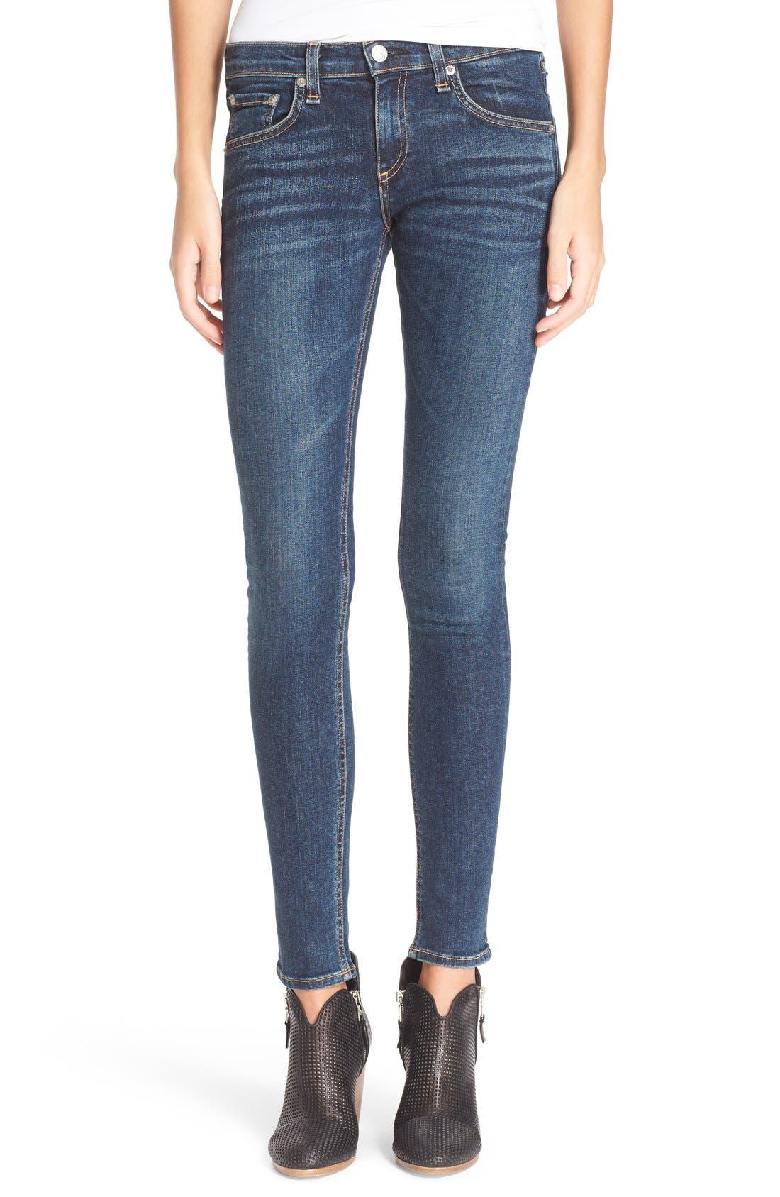 Alternate Image 1 Selected - rag & bone/JEAN Skinny Jeans (Phoenicia)