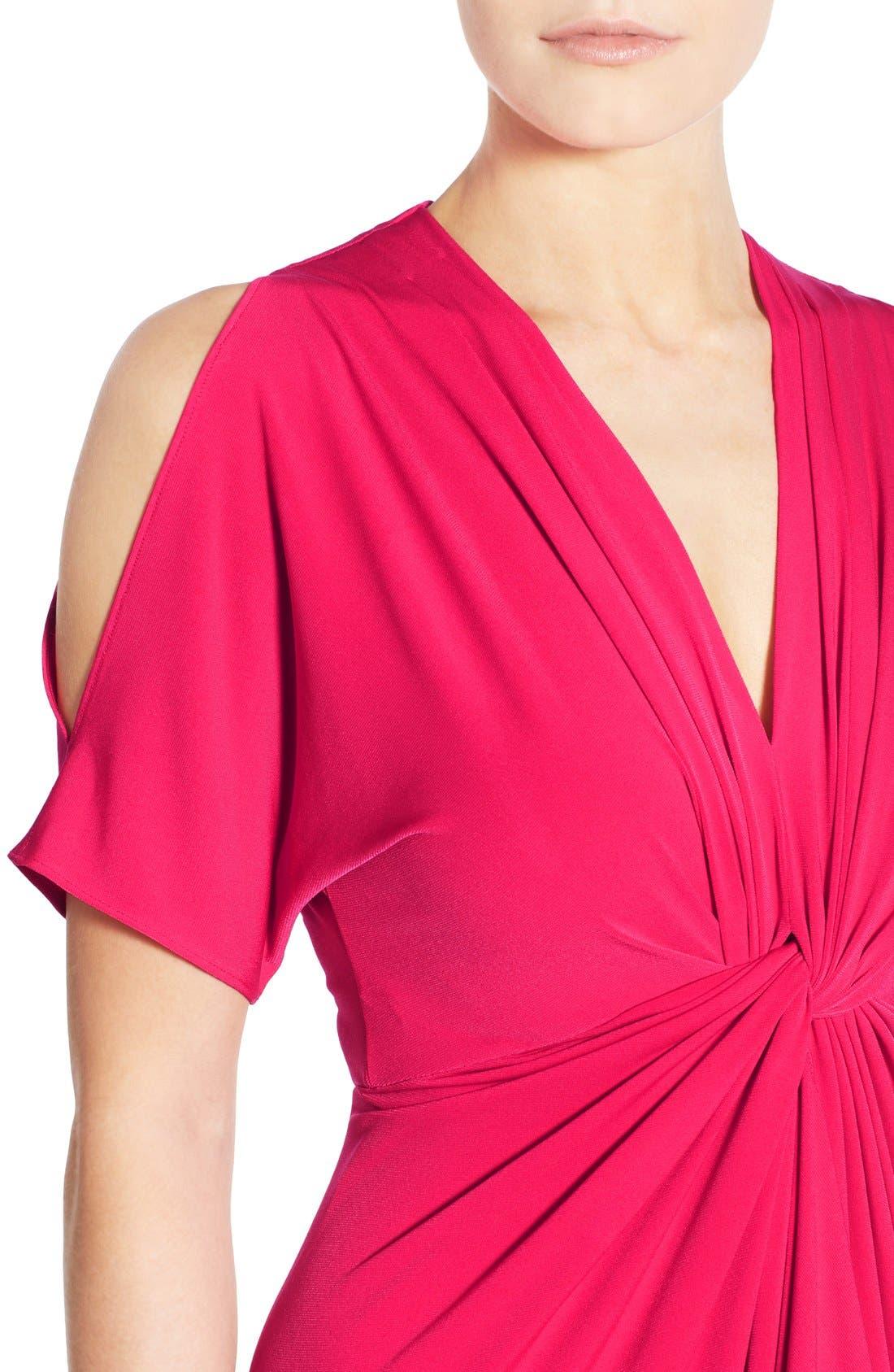 Alternate Image 4  - Catherine Catherine Malandrino 'Emily' Cold Shoulder Twist Front Dress