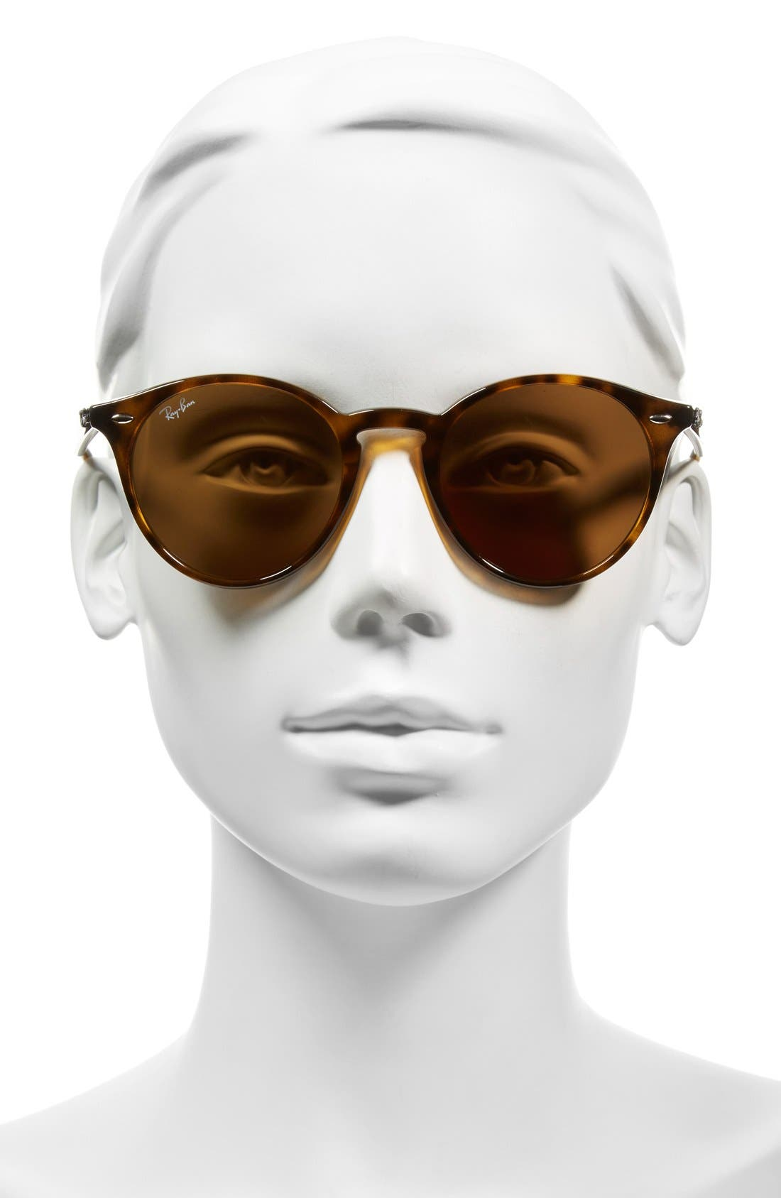 Highstreet 51mm Round Sunglasses,                             Alternate thumbnail 2, color,                             Dark Havana