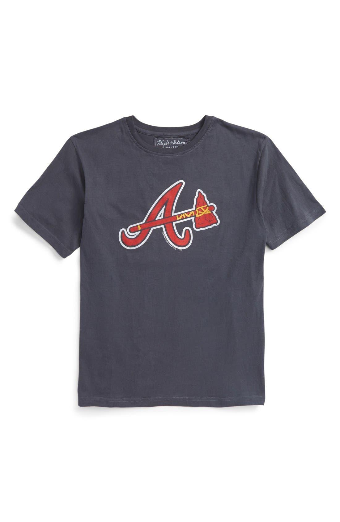 Wright & Ditson 'Atlanta Braves' T-Shirt (Little Boys & Big Boys)