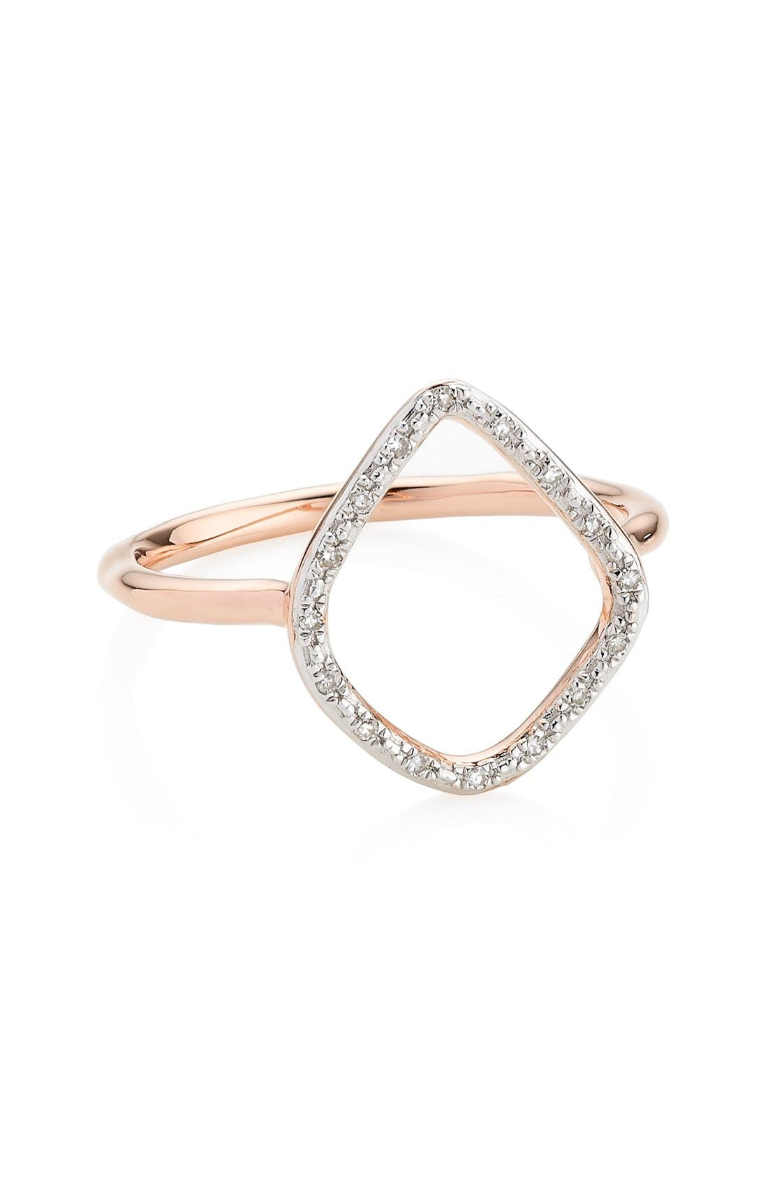 Monica Vinader 'Riva' Diamond Hoop Ring