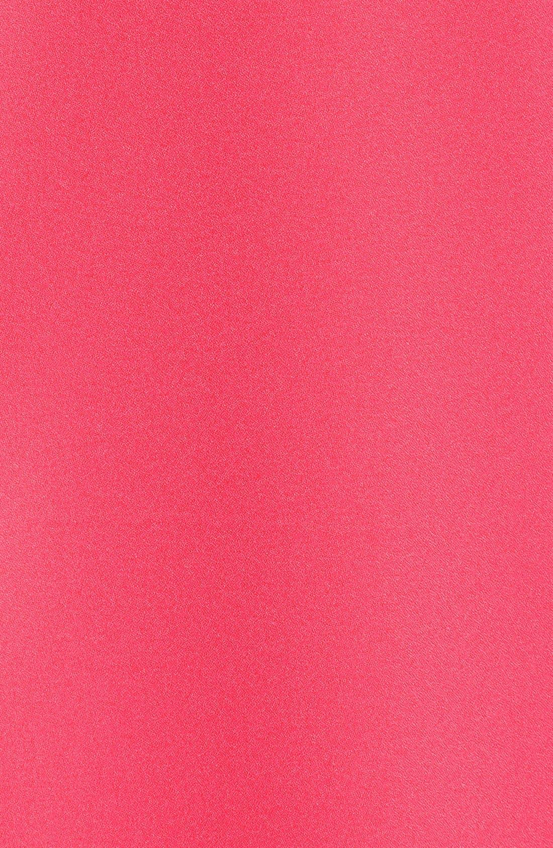 'Magnolia' Shift Dress,                             Alternate thumbnail 5, color,                             Flamingo