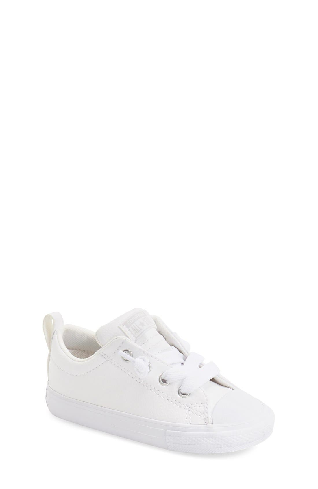 Main Image - Converse Chuck Taylor® All Star® Ox Faux Leather Sneaker (Toddler, Little Kid & Big Kid)