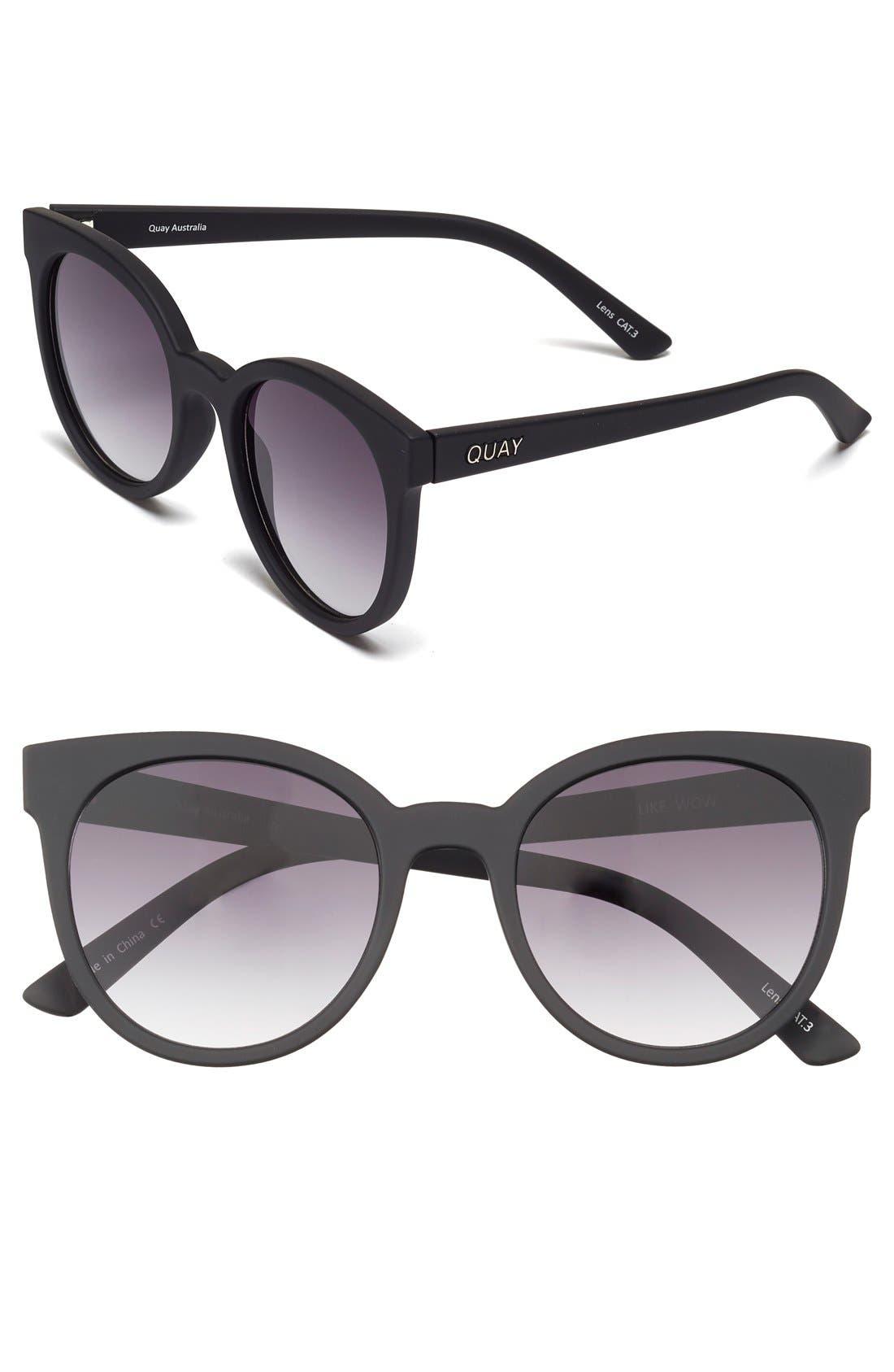 Alternate Image 1 Selected - Quay Australia 'Like Wow' 55mm Round Sunglasses