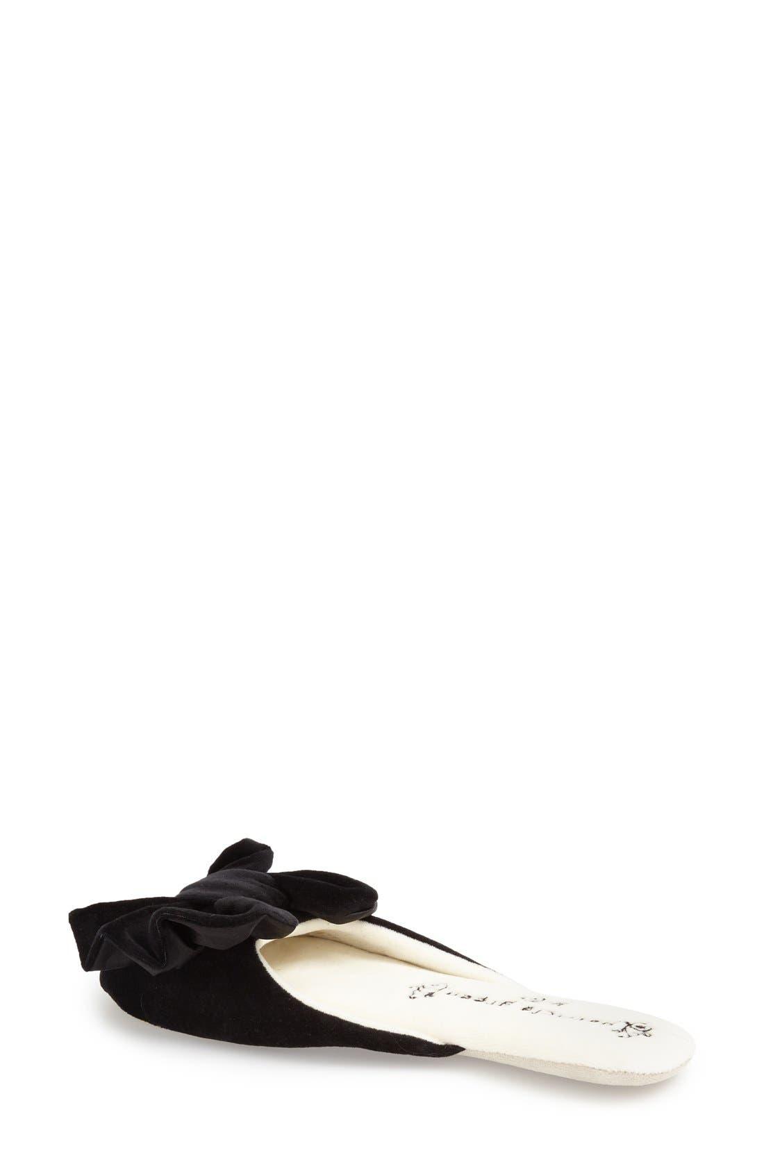 'Betty' Slipper,                             Alternate thumbnail 2, color,                             Black Polyester