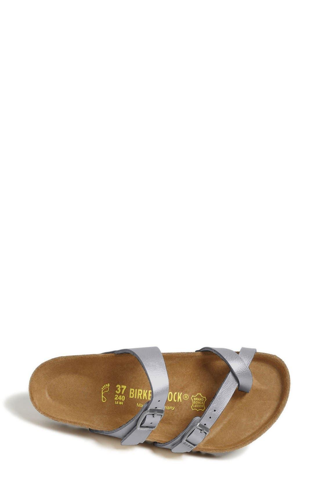 'Mayari' Birko-Flor<sup>™</sup> Sandal,                             Alternate thumbnail 3, color,                             Silver