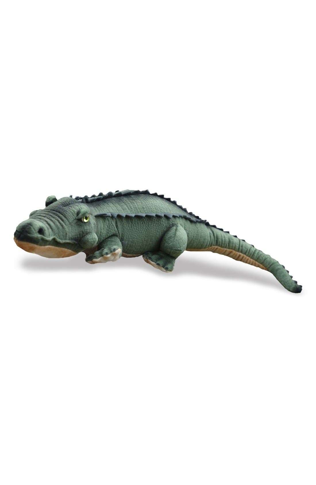 'Alligator' Stuffed Animal,                             Main thumbnail 1, color,                             Green