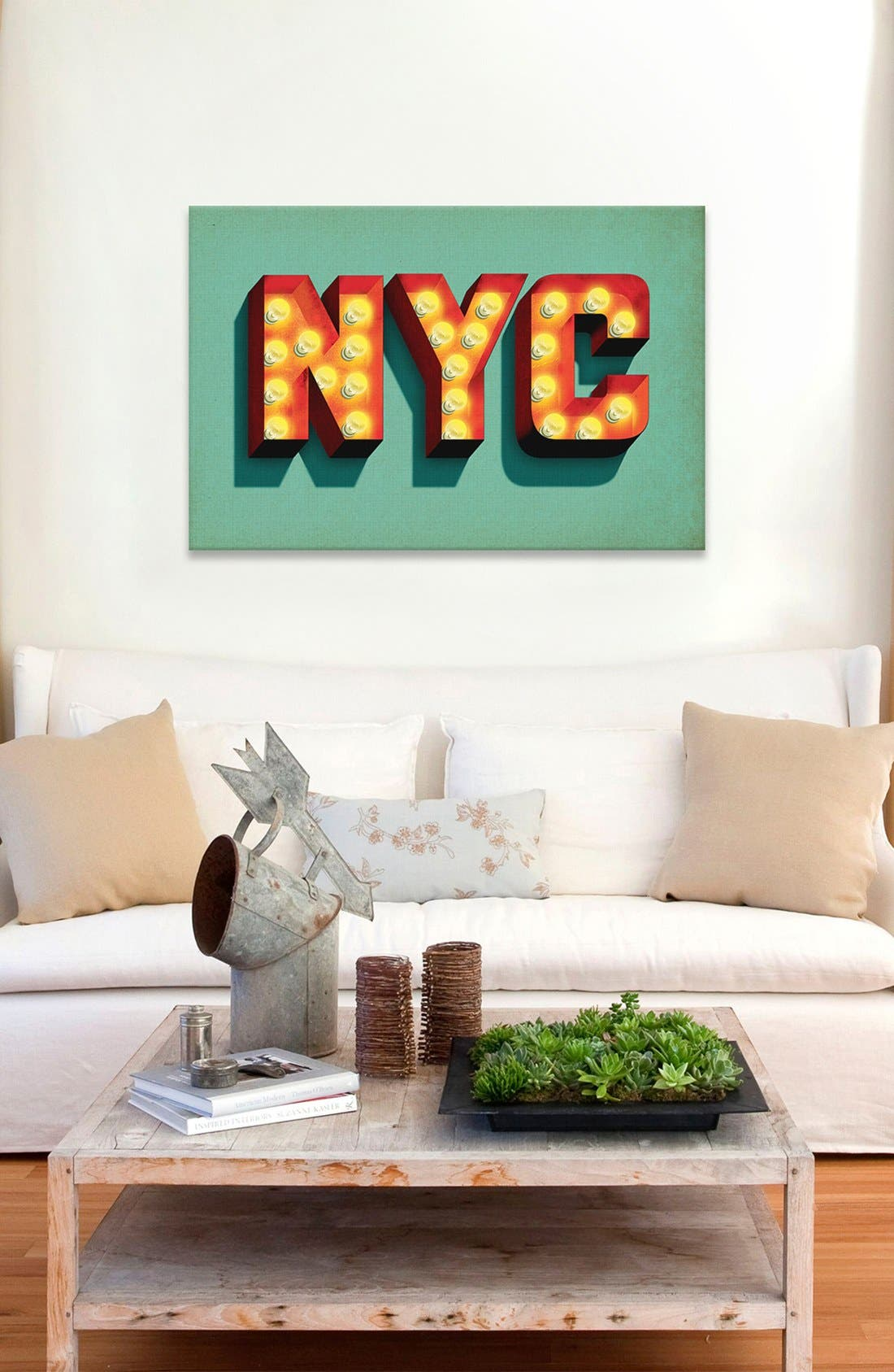 Alternate Image 2  - iCanvas 'NYC' Giclée Print Canvas Art