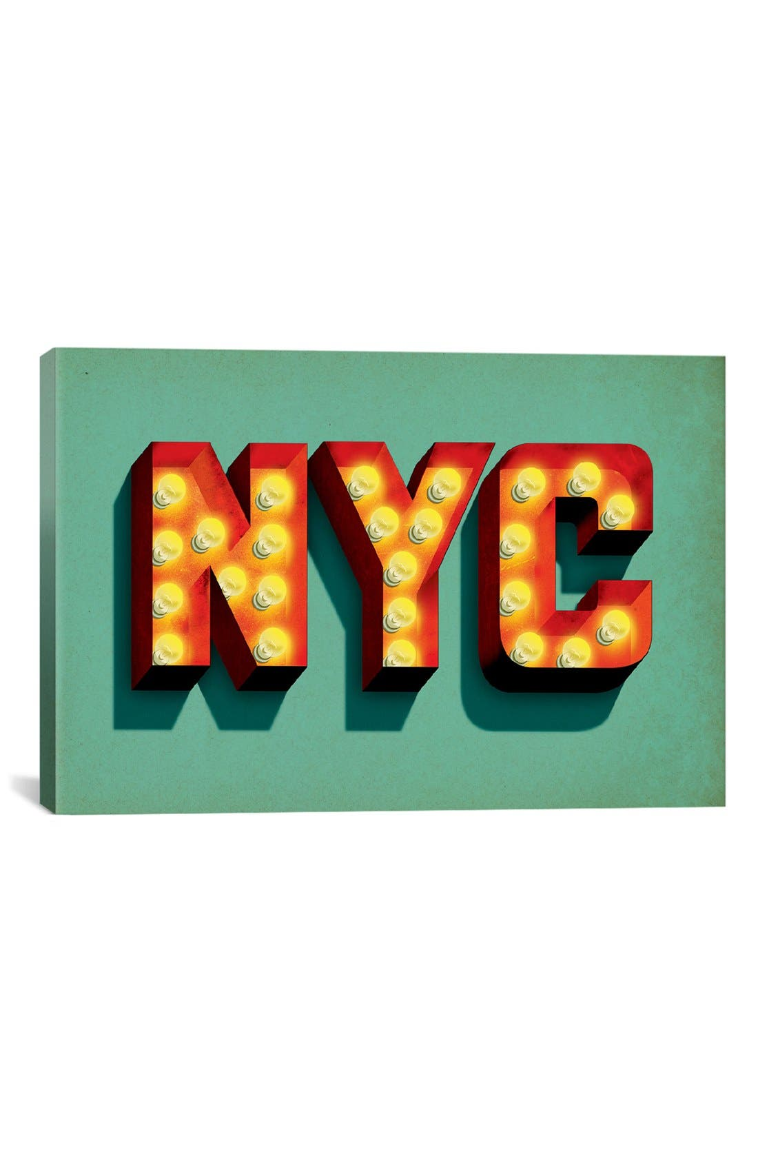 'NYC' Giclée Print Canvas Art,                         Main,                         color, Green