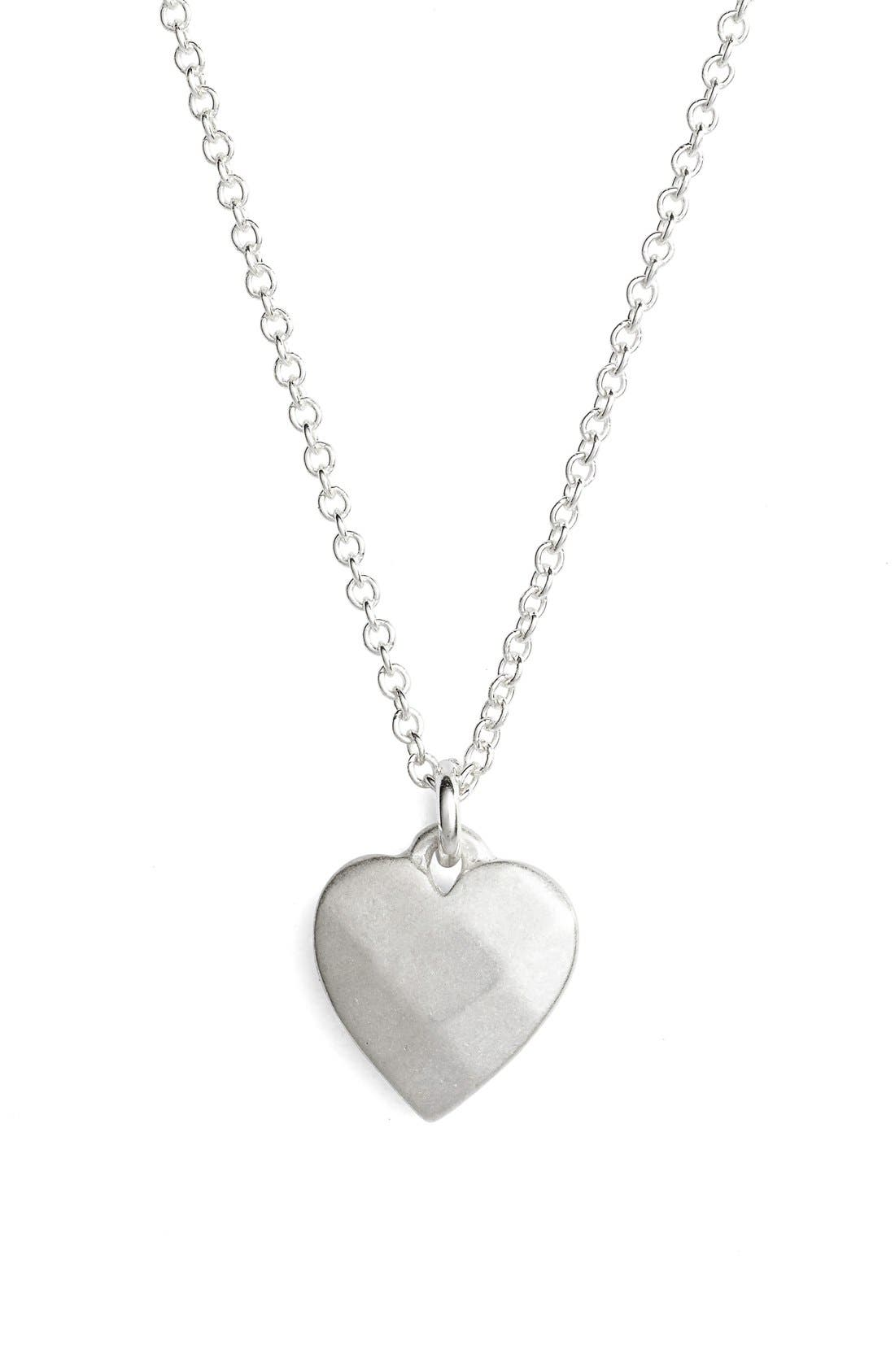 Alternate Image 3  - Dogeared 'Thanks' Heart Pendant Necklace