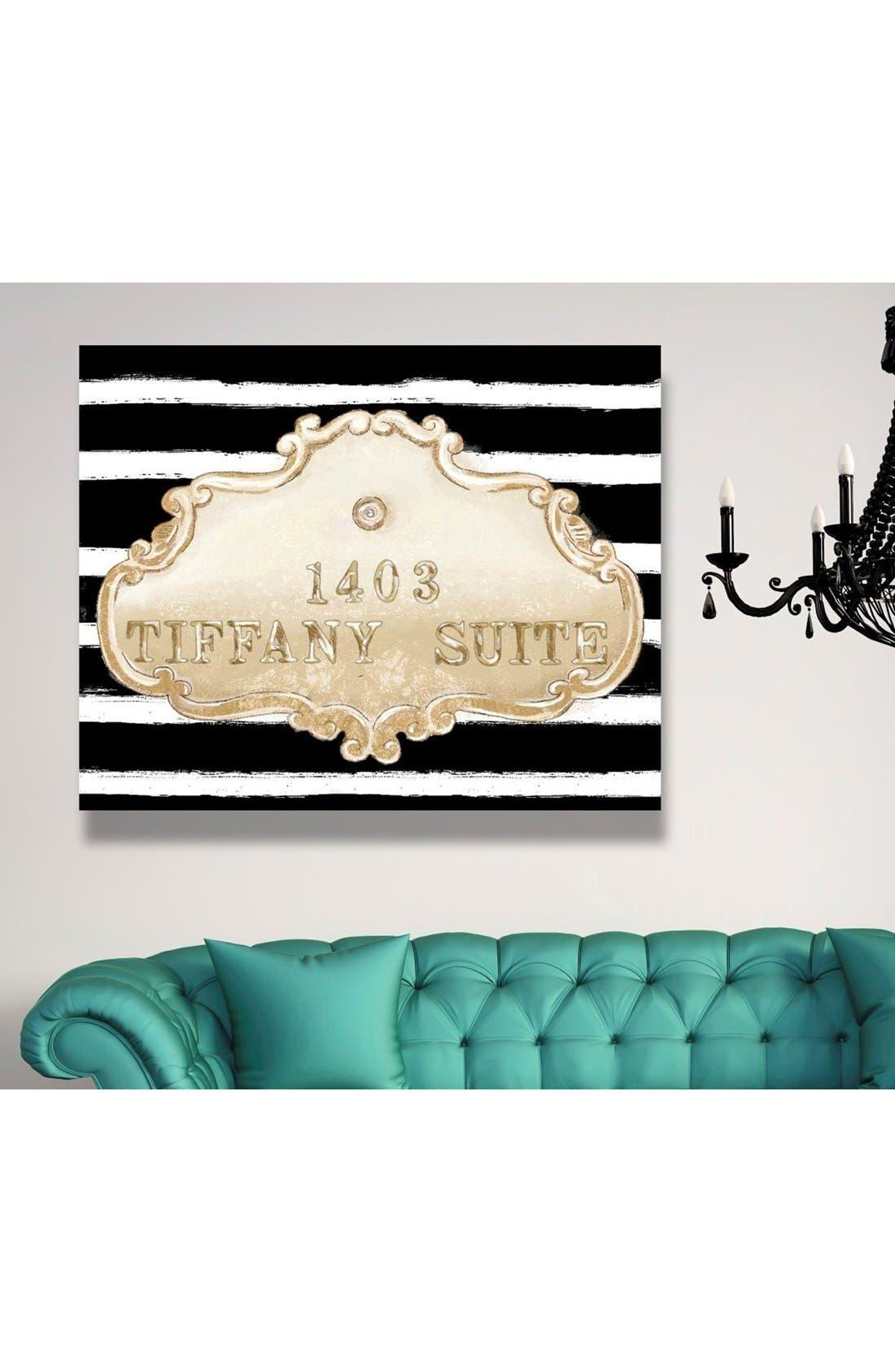 'Tiffany Suite' Canvas Wall Art,                             Alternate thumbnail 2, color,                             Black