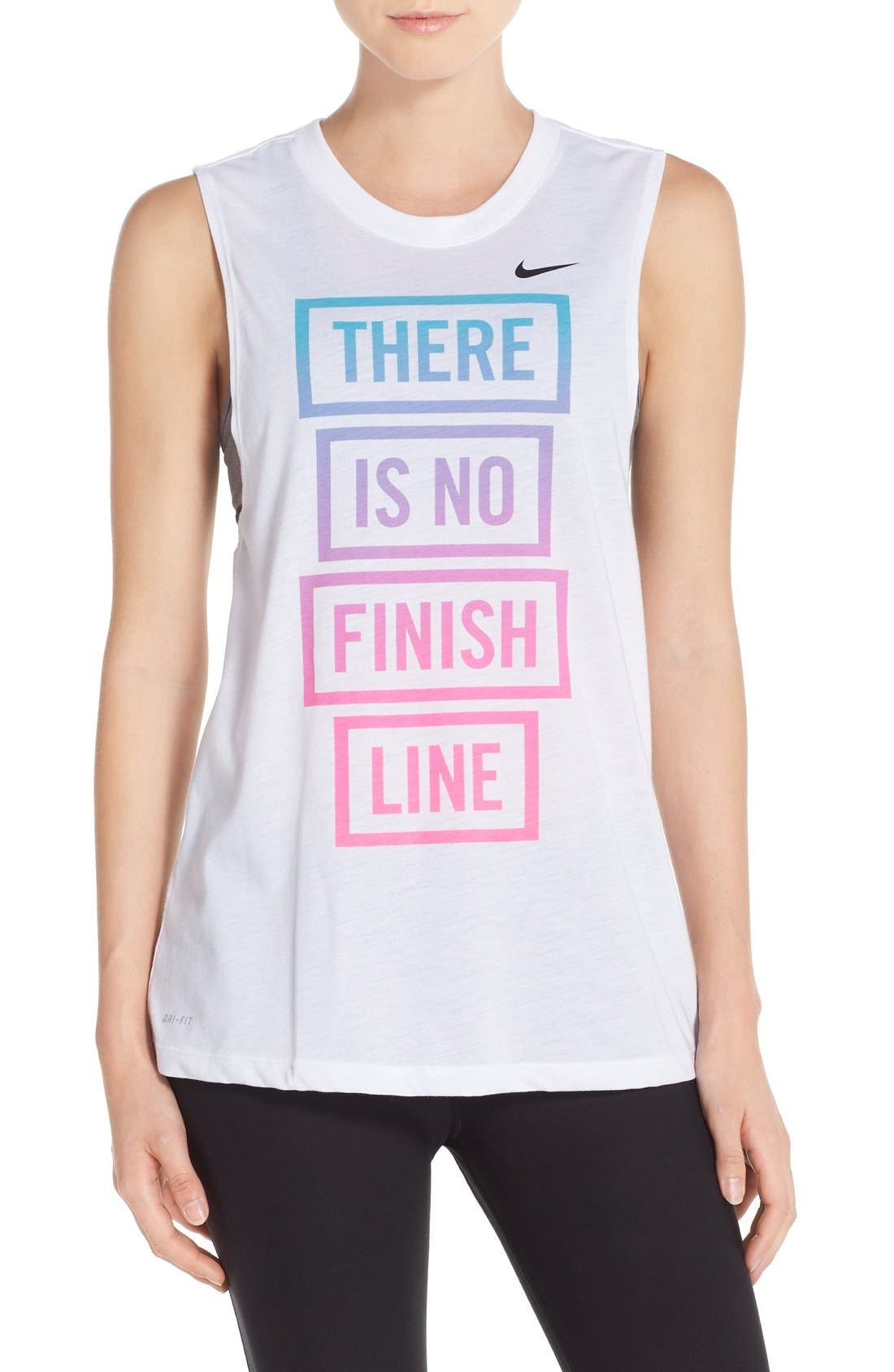 Alternate Image 1 Selected - Nike 'There Is No Finish Line' Muscle Tank