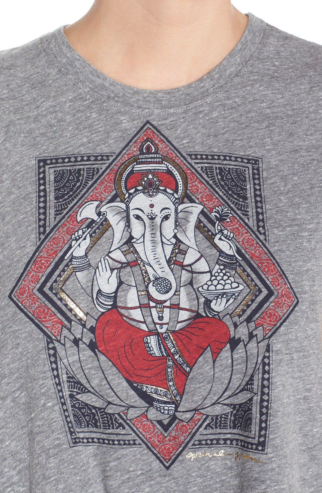 Alternate Image 4  - Spiritual Gangster 'Ganesh Lotus' Crop Muscle Tee