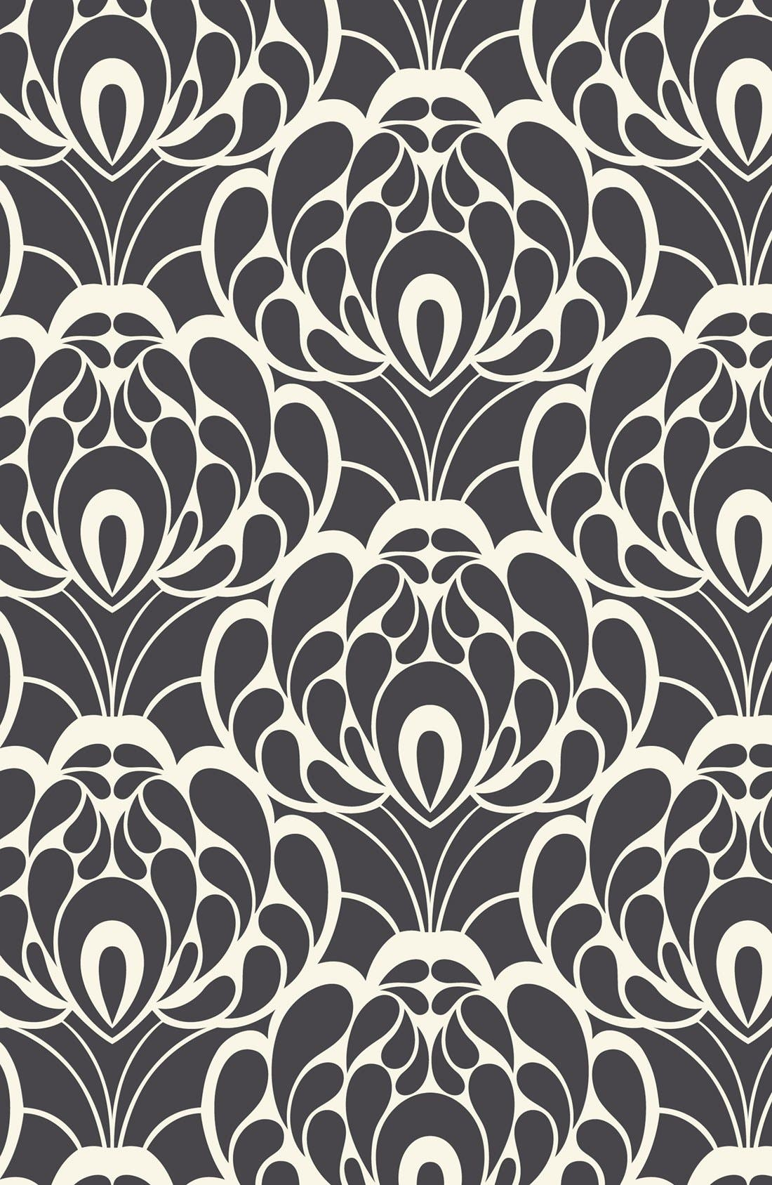 Cotton Nursing Cover,                             Alternate thumbnail 5, color,                             Black/ Cream