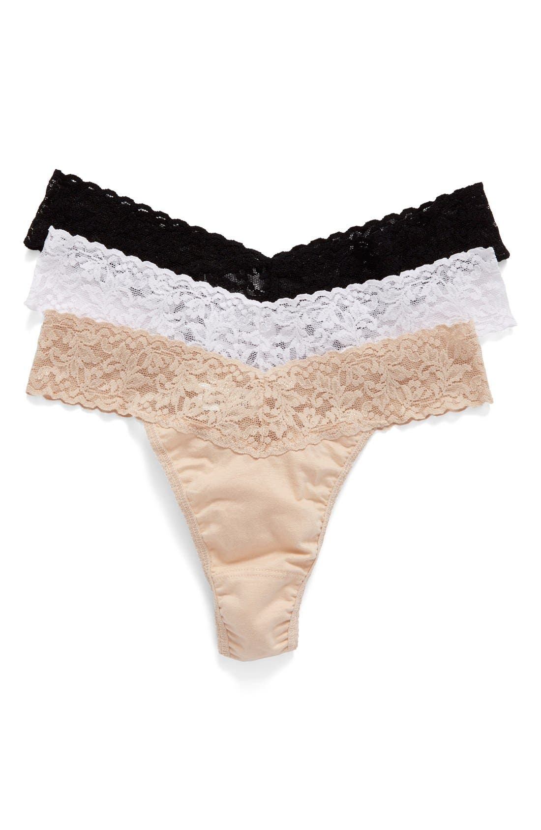 Alternate Image 2  - Hanky Panky Original Rise Thong (3-Pack)
