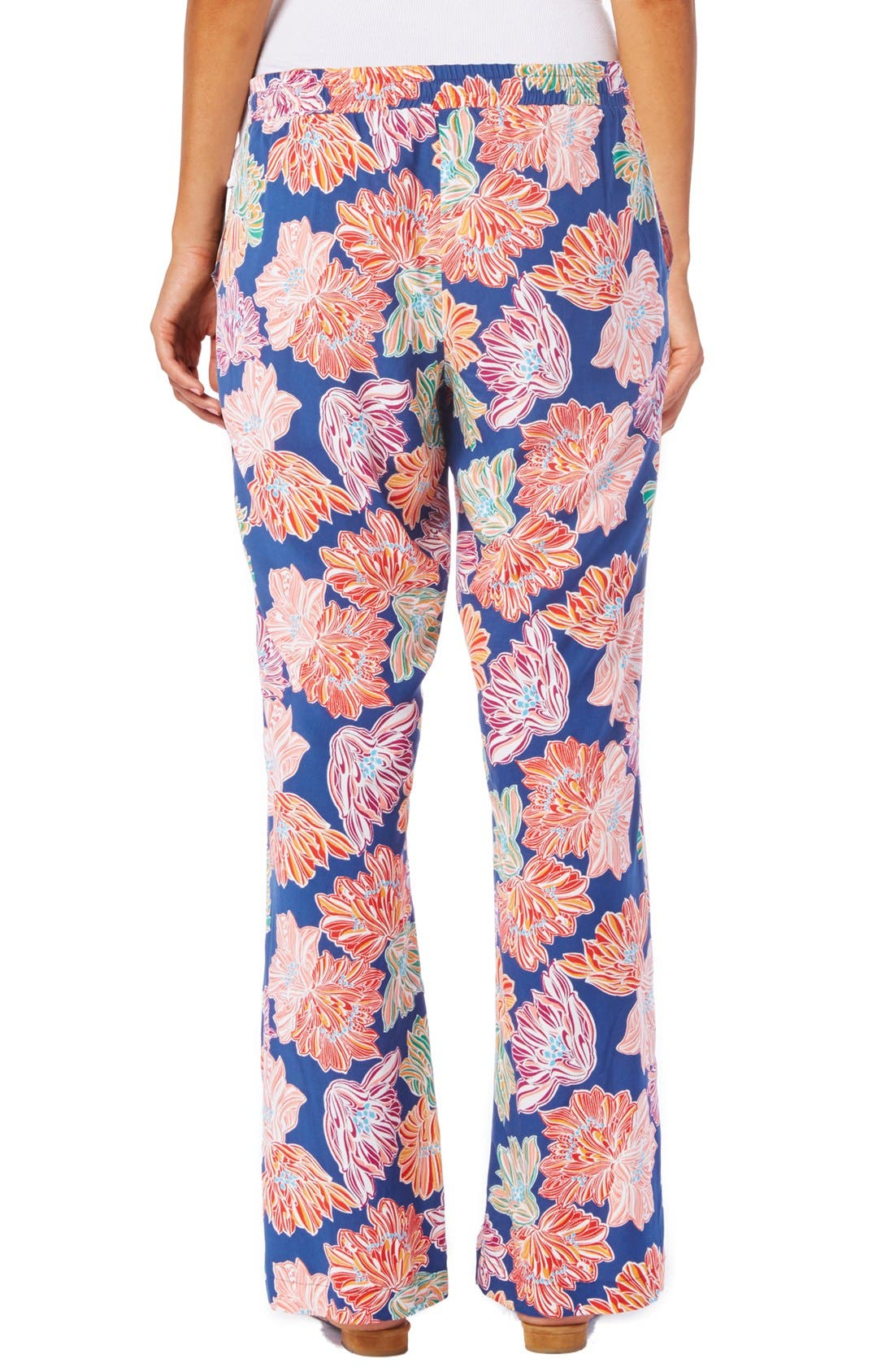 Alternate Image 2  - Michael Stars Floral Print Wide Leg Drawstring Pants