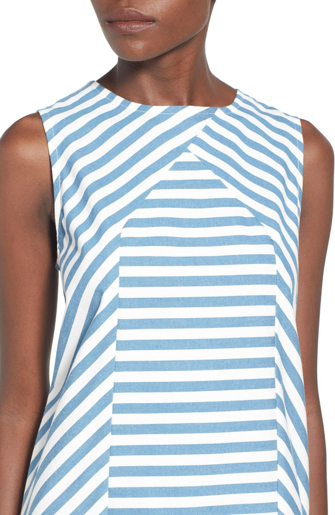 Alternate Image 4  - Rachel Antonoff 'Sam' Stripe Cotton Shift Dress