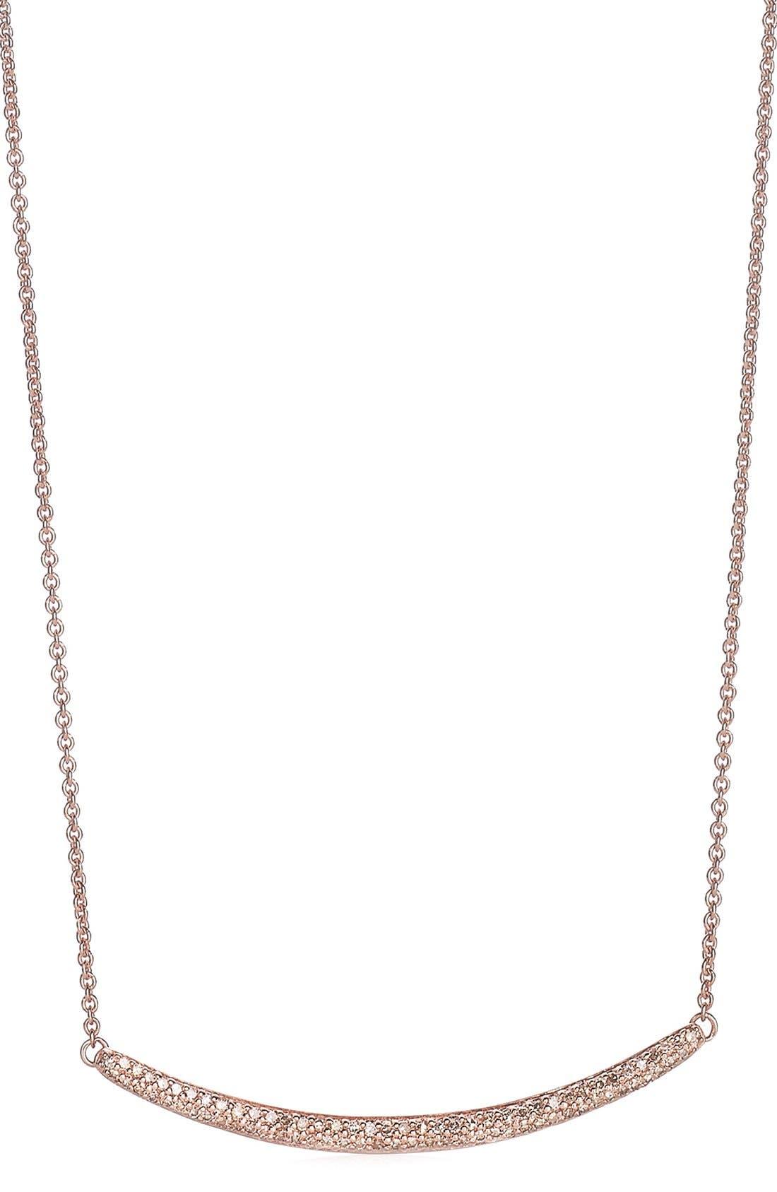Monica Vinader 'Skinny' Diamond Necklace