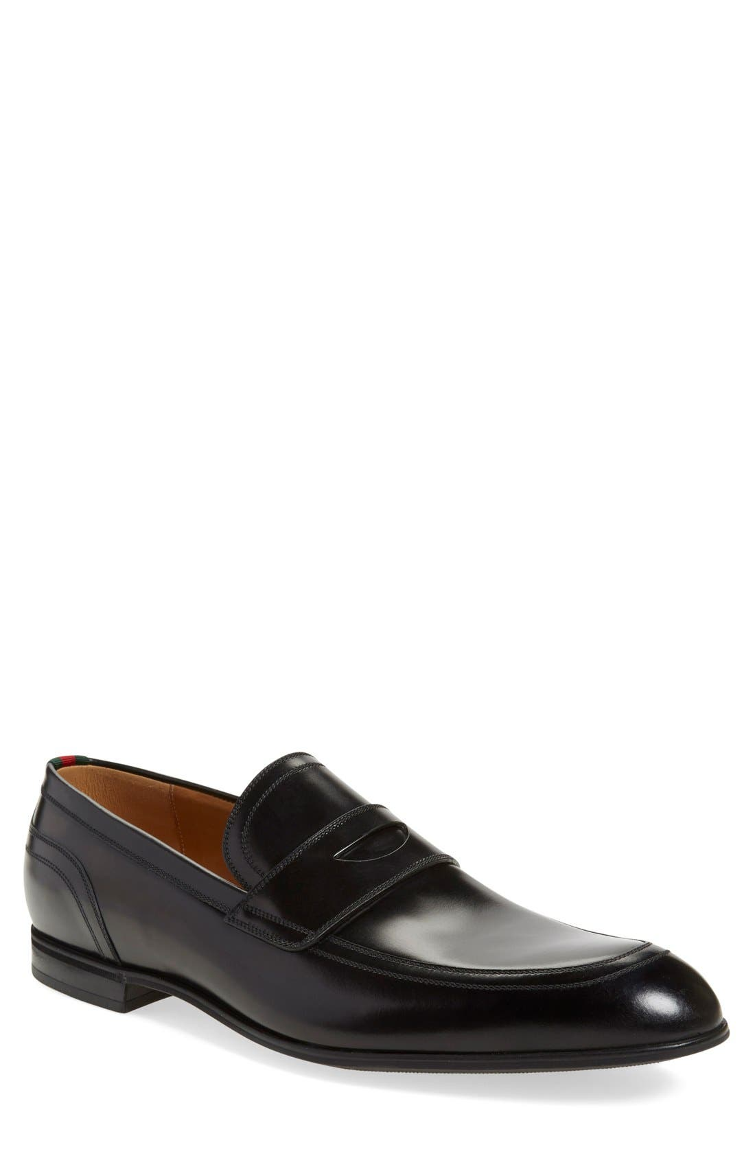 Alternate Image 1 Selected - Gucci Ravello Penny Loafer (Men)
