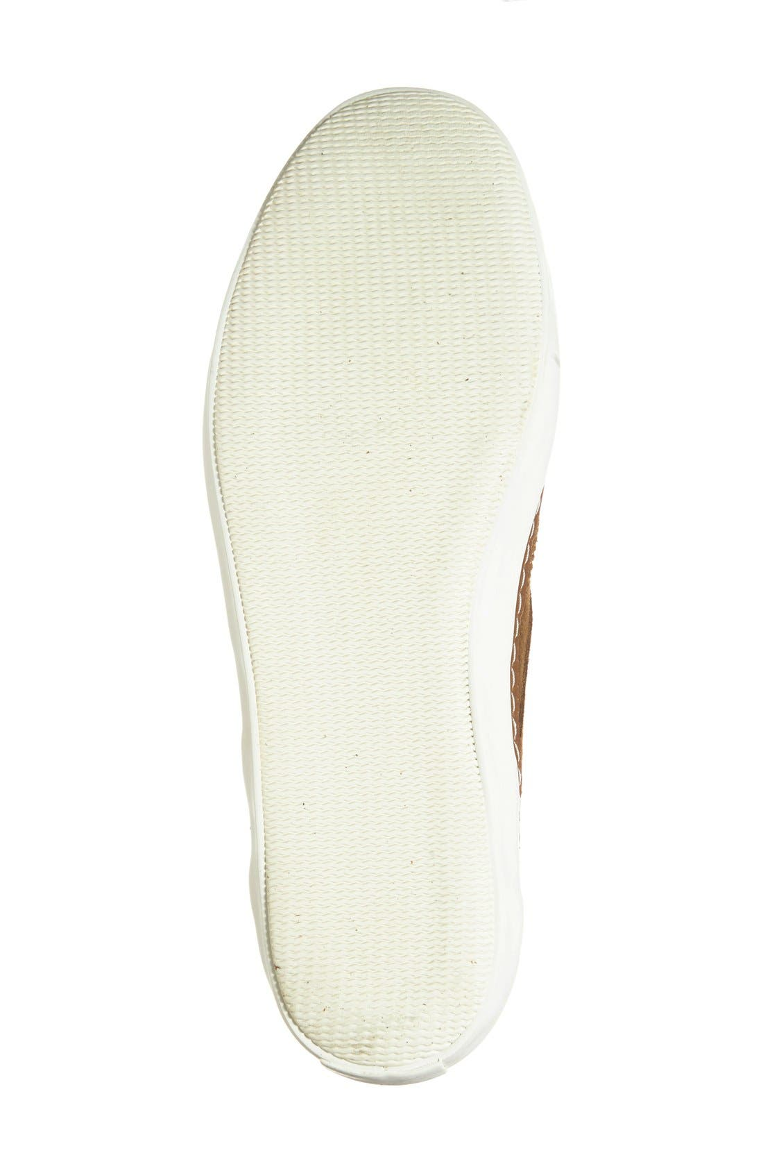 'Novello' Wingtip Sneaker,                             Alternate thumbnail 4, color,                             Daschund Suede